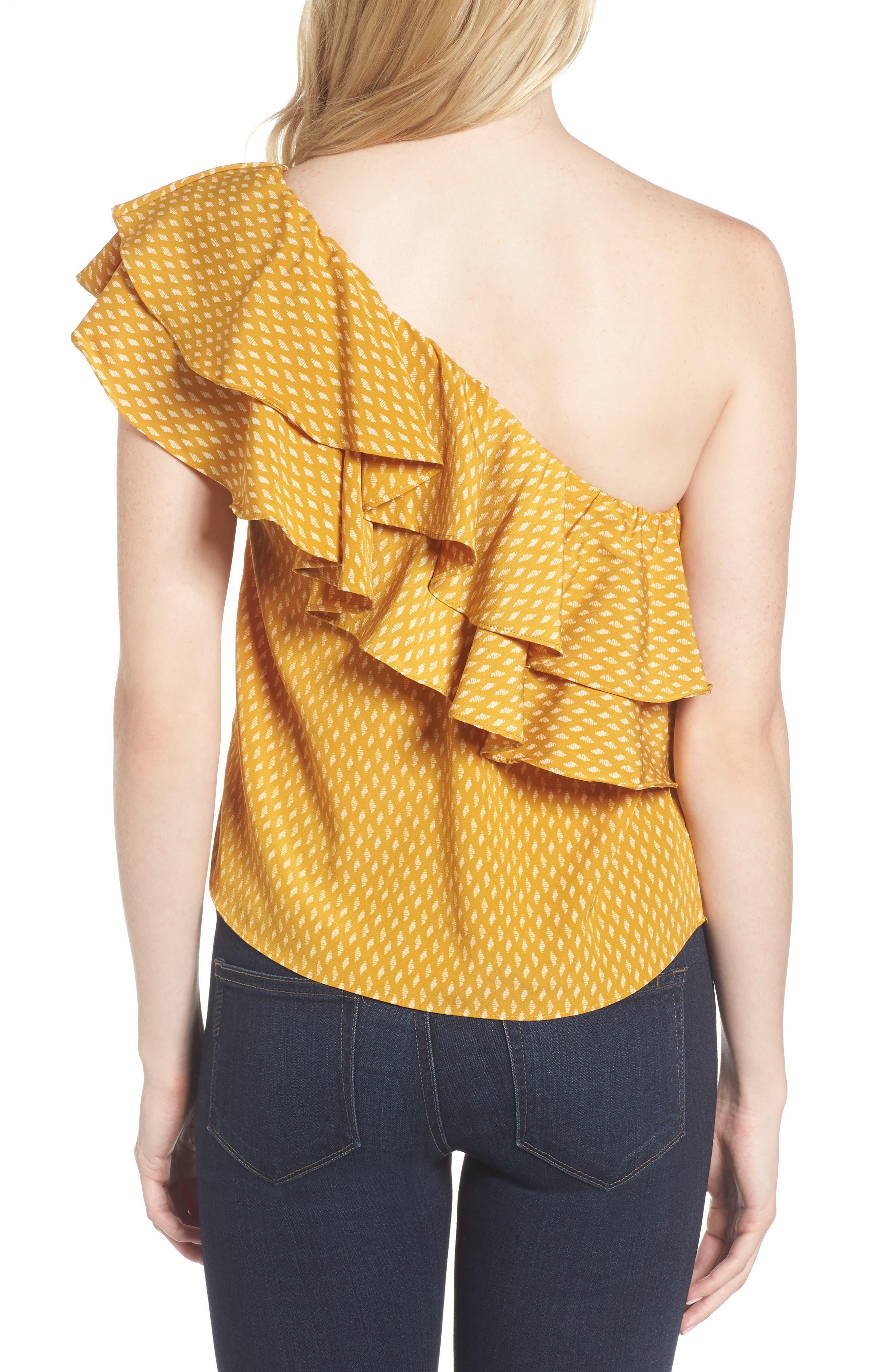 Alternate Image 2  - MISA Los Angeles Klea Ruffle One-Shoulder Top