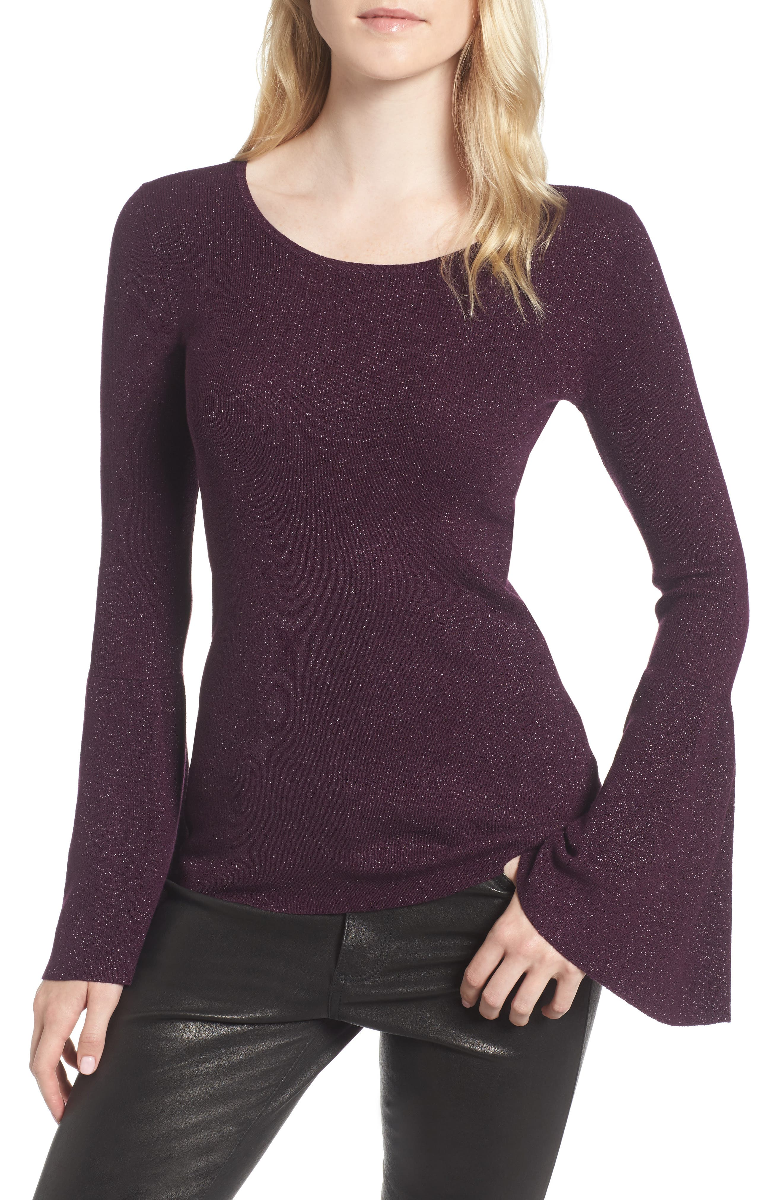 Hinge Sparkle Bell Sleeve Sweater