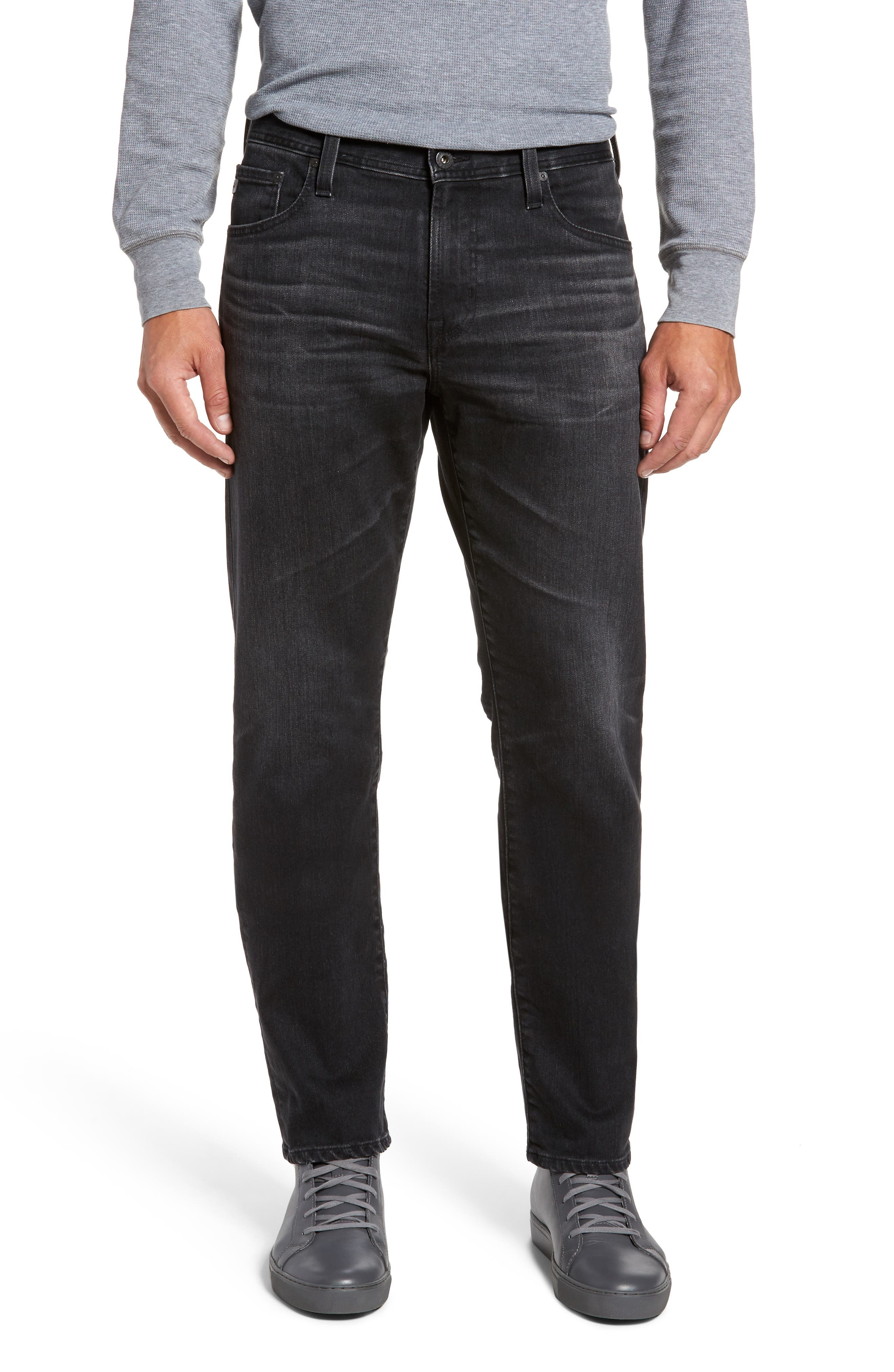 Alternate Image 1 Selected - AG Graduate Slim Straight Fit Jeans (7 Years Asphalt)