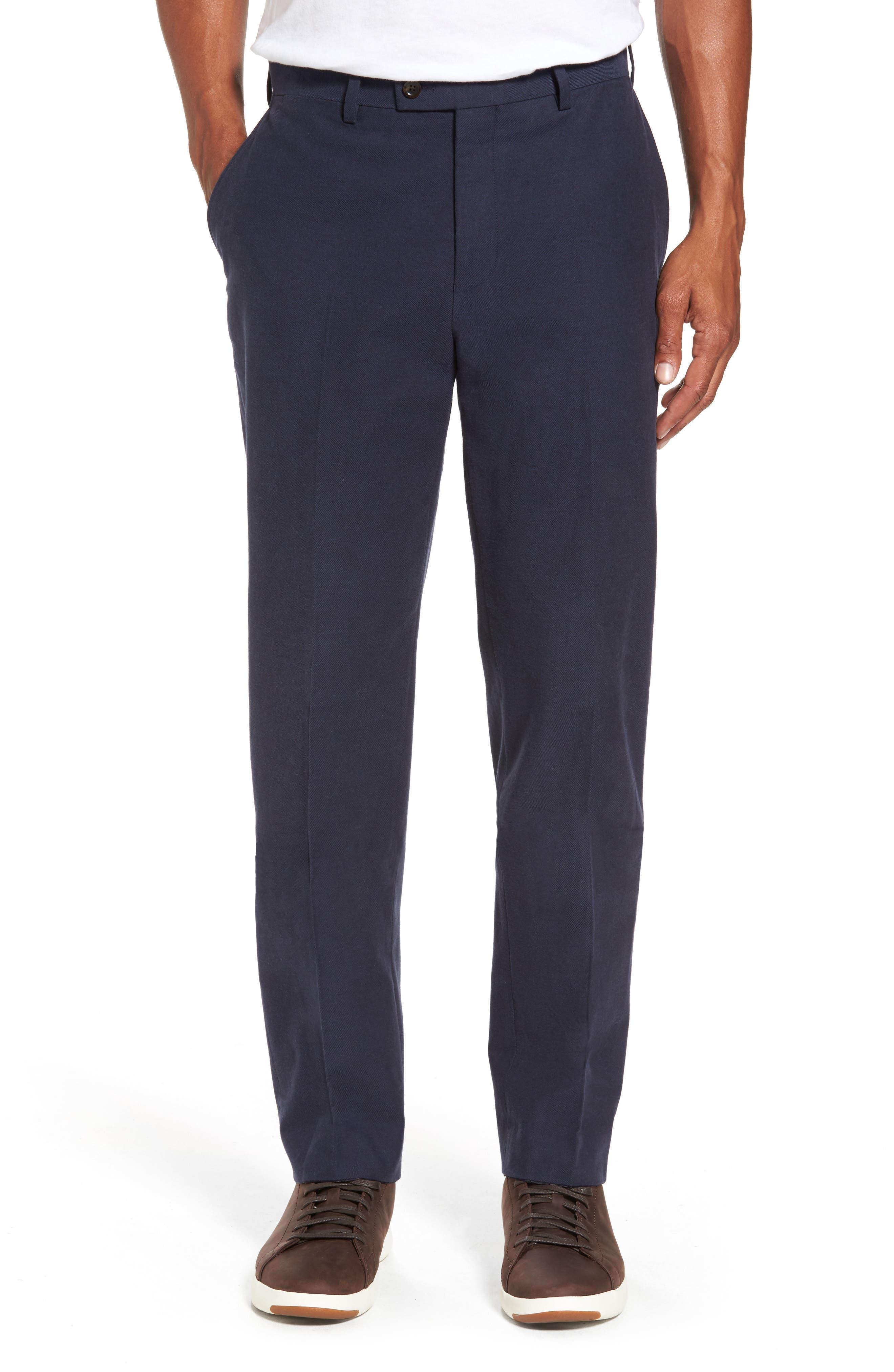 Pembroke Slim Fit Twill Pants,                         Main,                         color, Navy