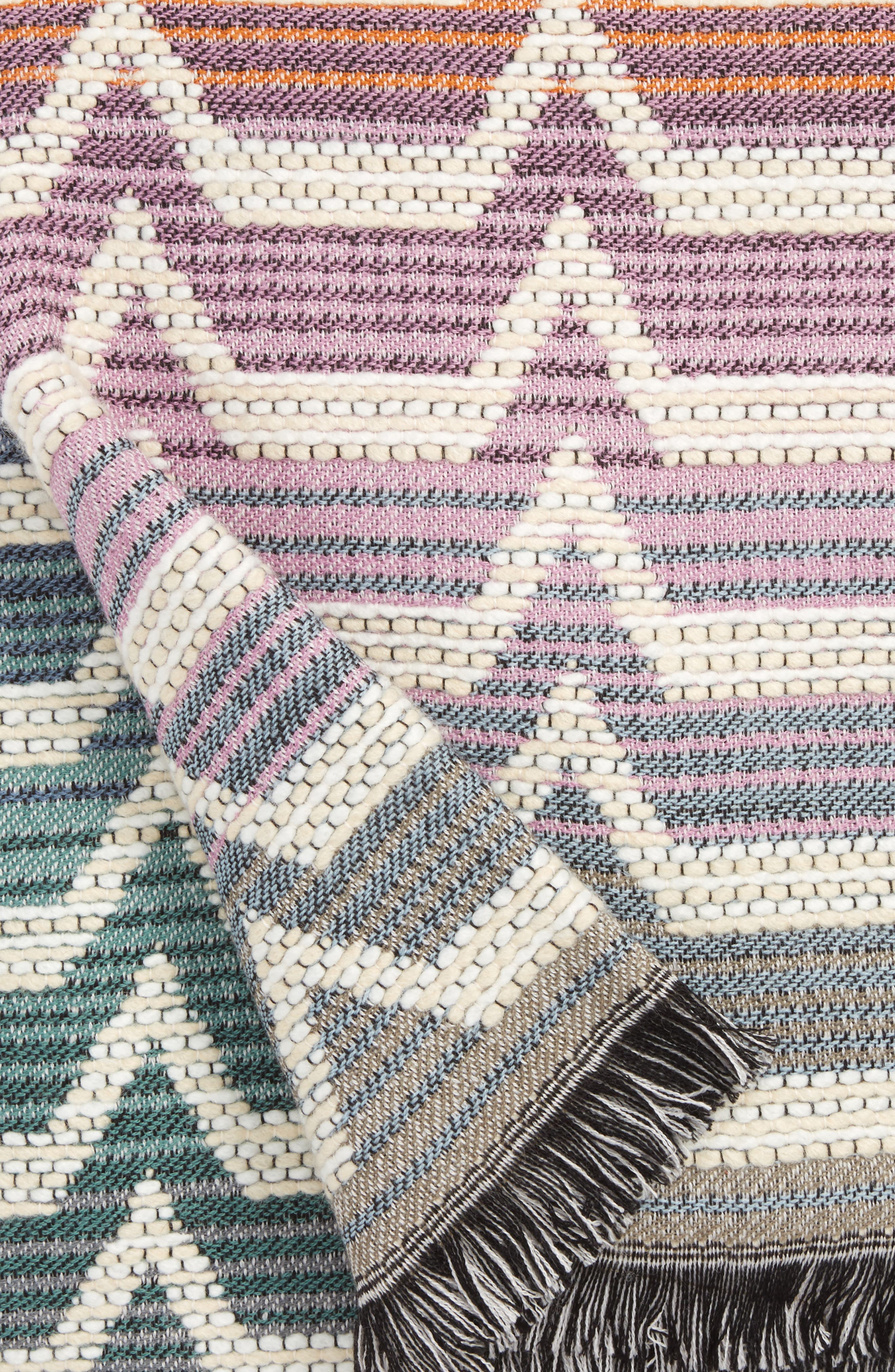 Socrate Throw Blanket,                             Alternate thumbnail 3, color,                             Multi Color