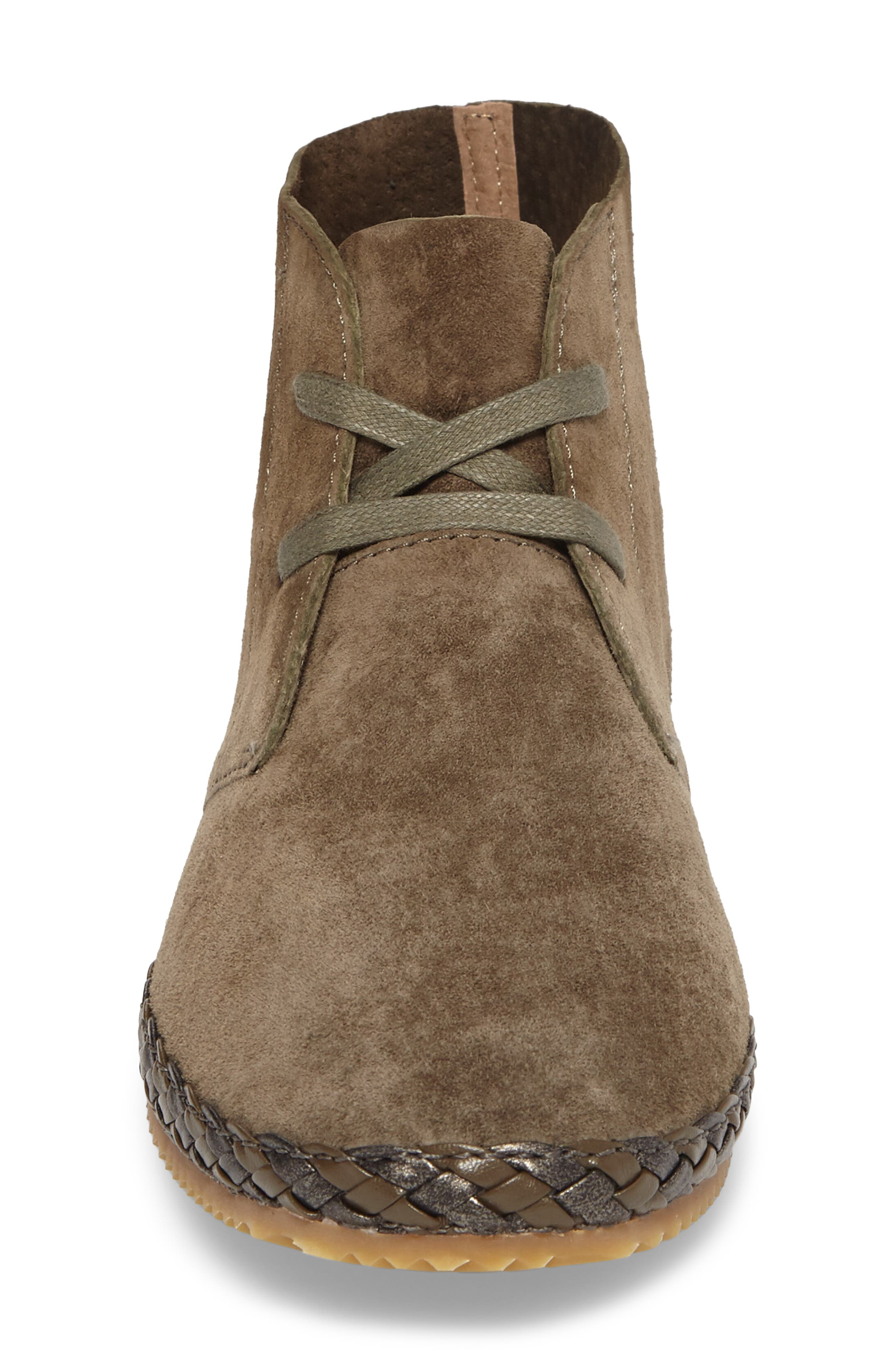 Addison Bootie,                             Alternate thumbnail 4, color,                             Olive Suede