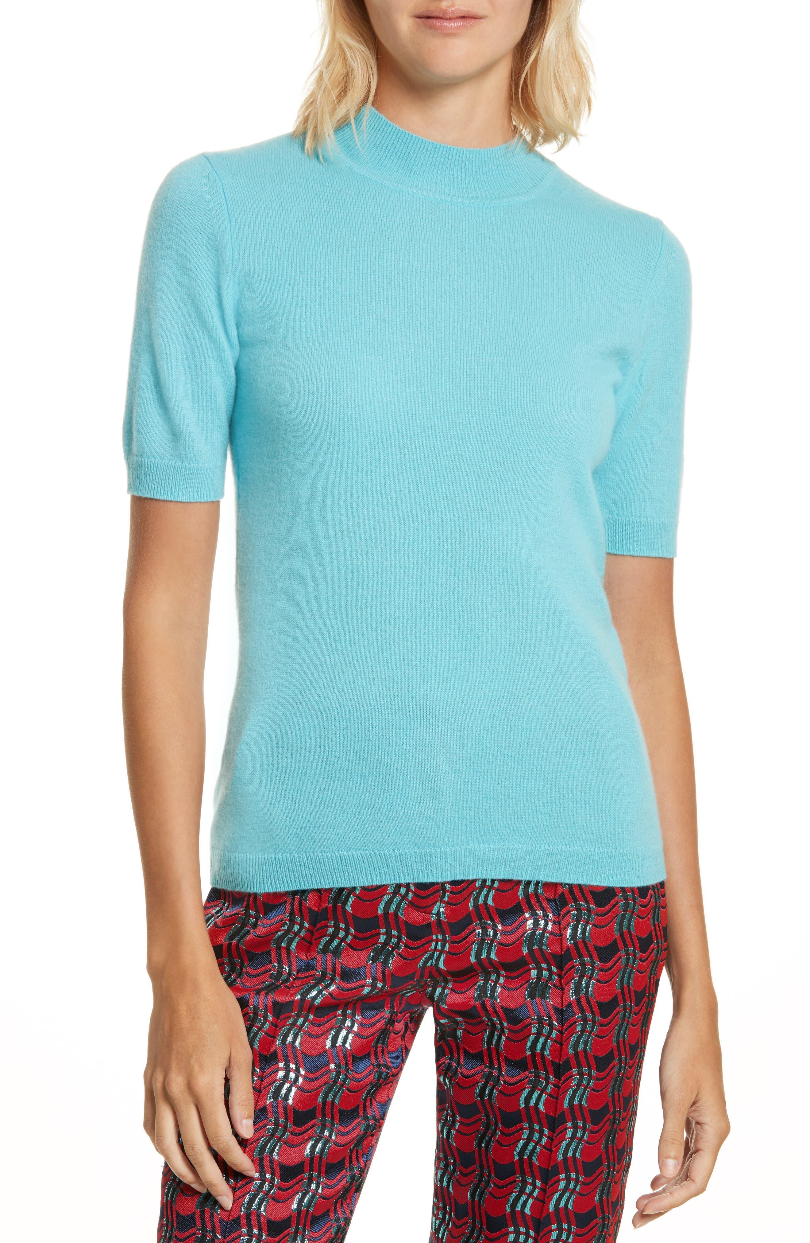 Diane Von Furstenberg Mock Neck Cashmere Sweater Buy Sale