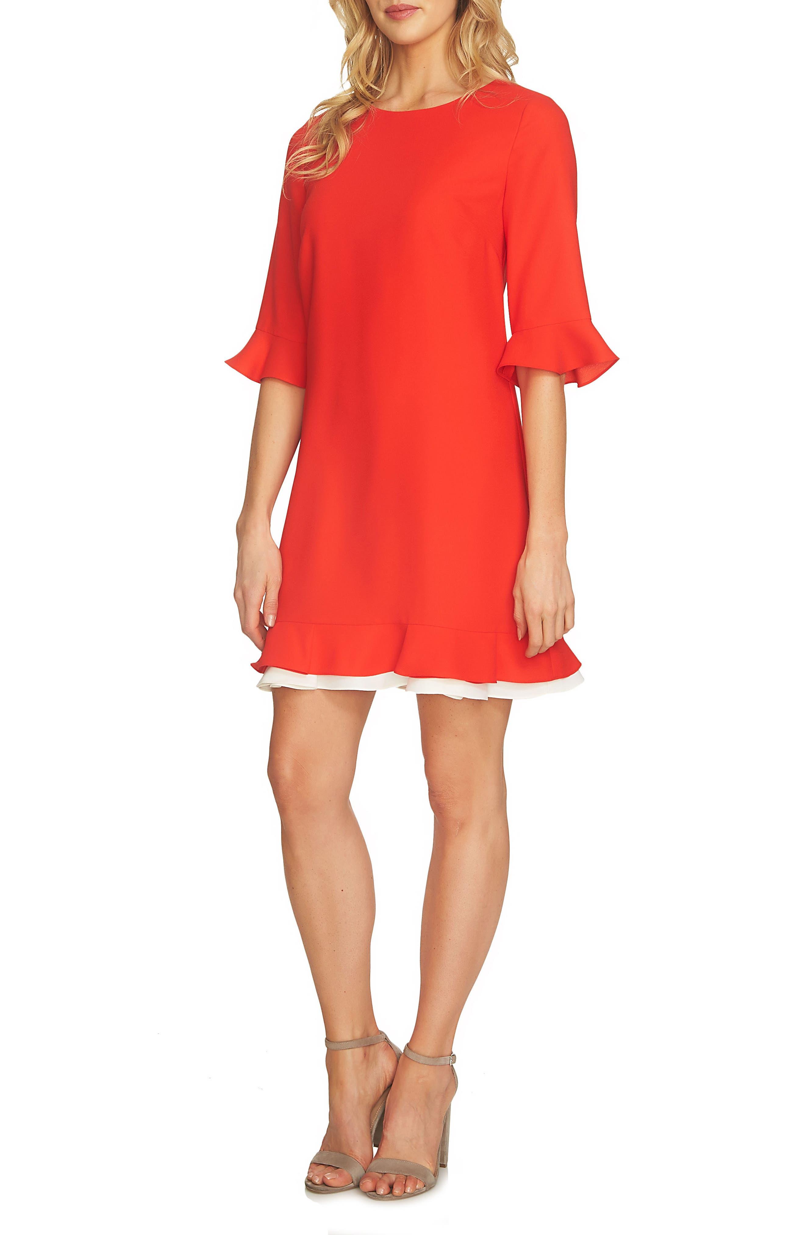 CeCe Kate Ruffle Dress (Regular & Petite)