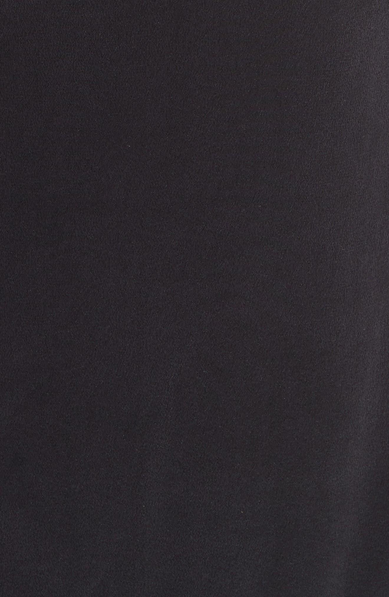 Granger Silk Dress,                             Alternate thumbnail 5, color,                             True Black