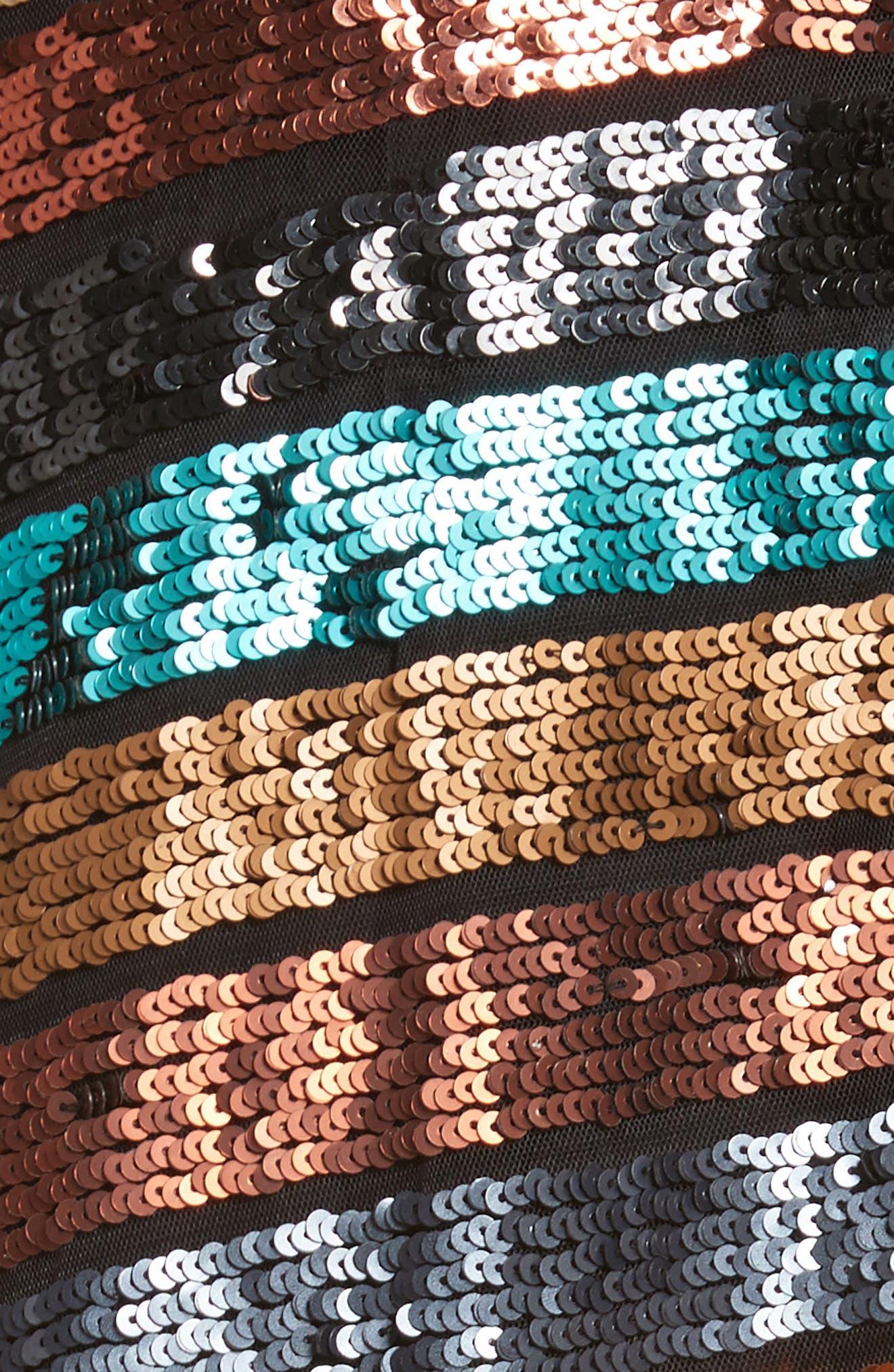 Flange Midi Dress,                             Alternate thumbnail 5, color,                             Multi