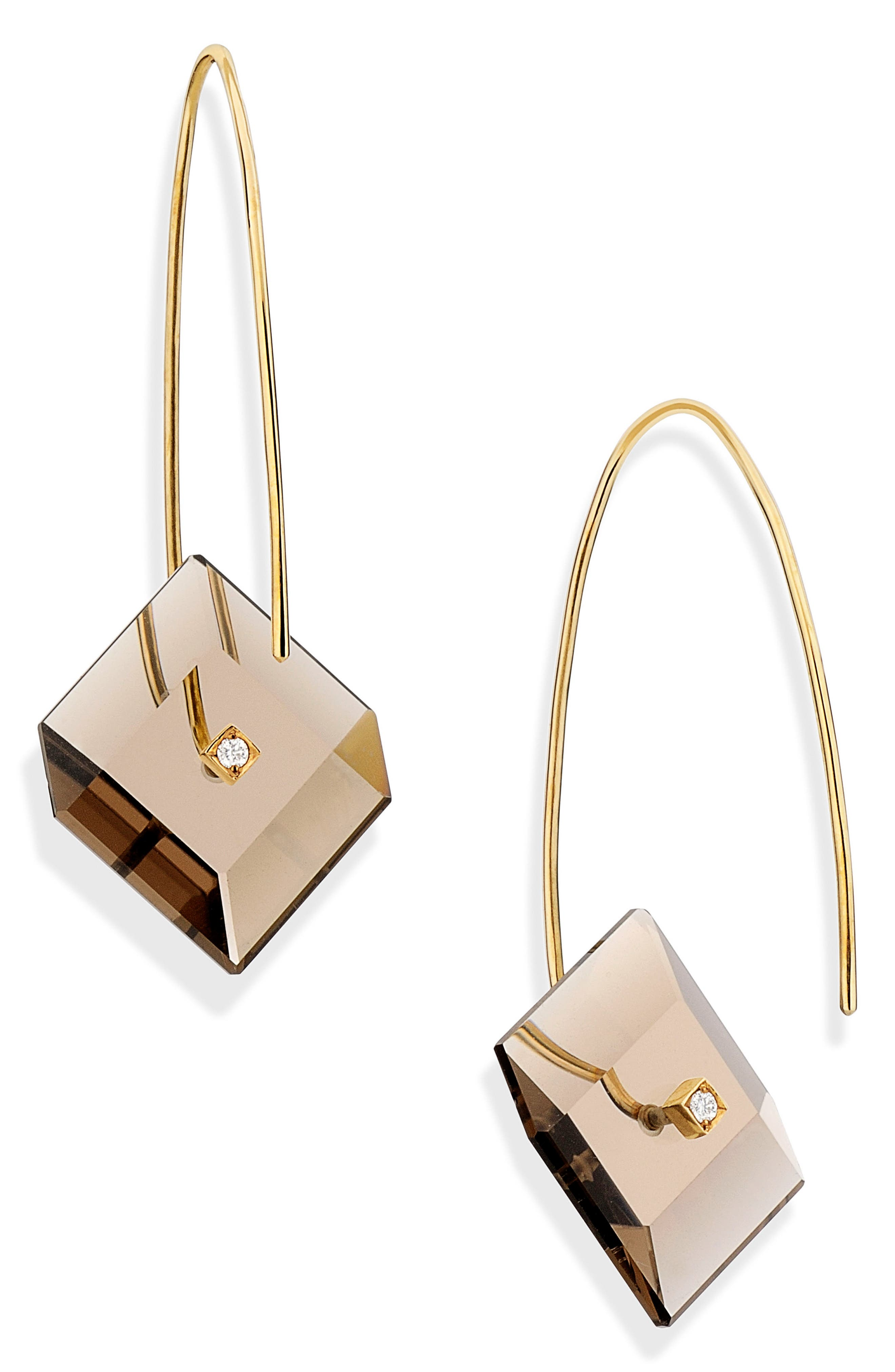 Yael Sonia Reverse Fit Diamond Square Earrings