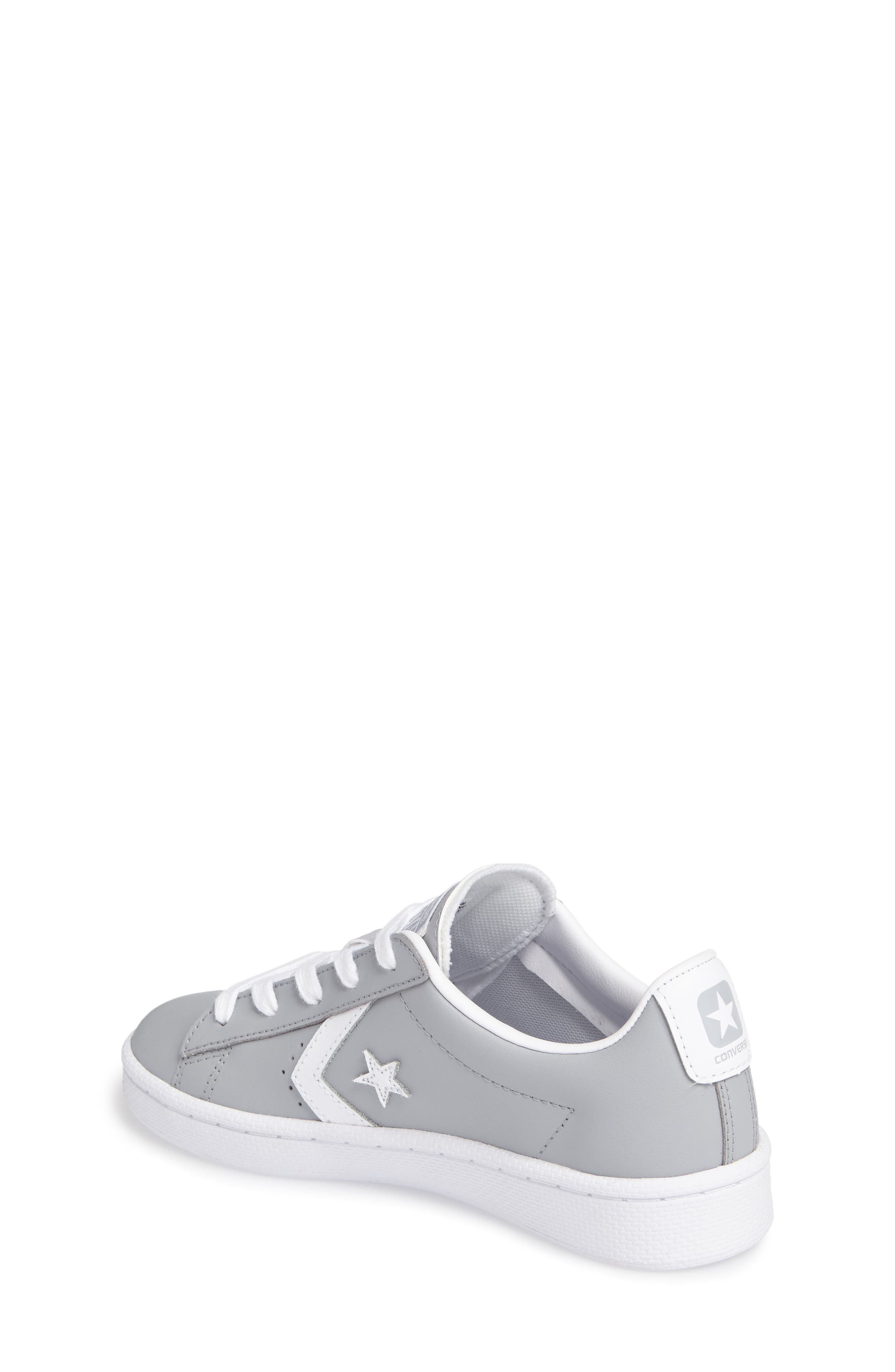 All Star<sup>®</sup> Pro Leather Low Top Sneaker,                             Alternate thumbnail 2, color,                             Wolf Grey