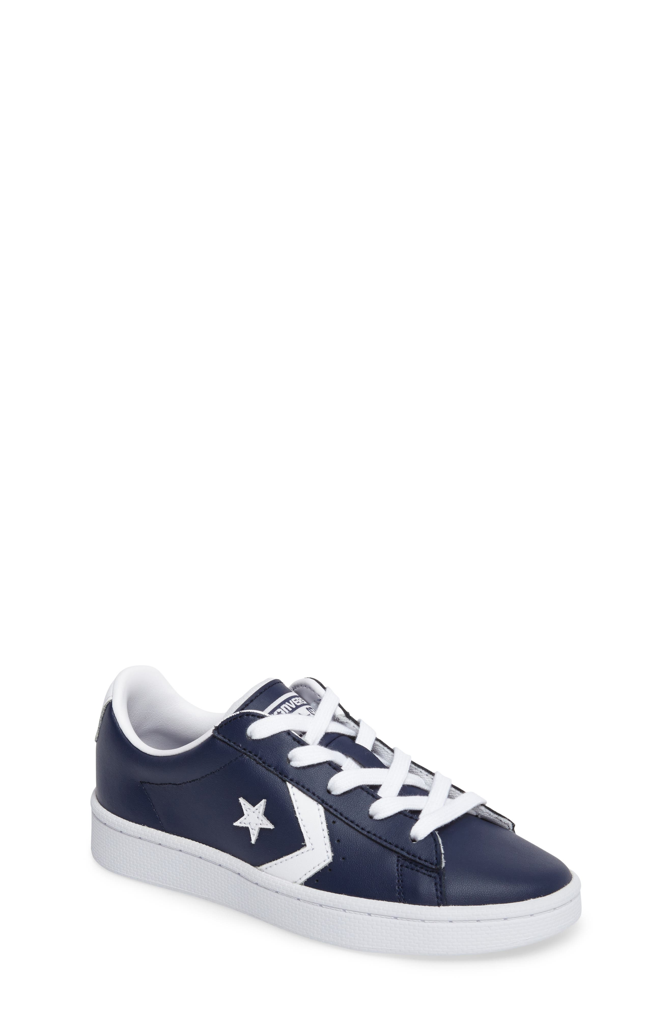 Alternate Image 1 Selected - Converse All Star® Pro Leather Low Top Sneaker (Toddler & Little Kid)
