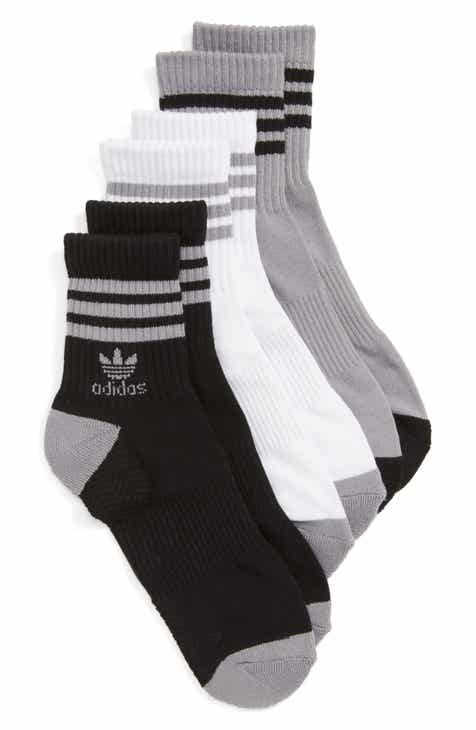 4a1159375a84 adidas Originals 3-Pack Ribbed Ankle Crew Socks
