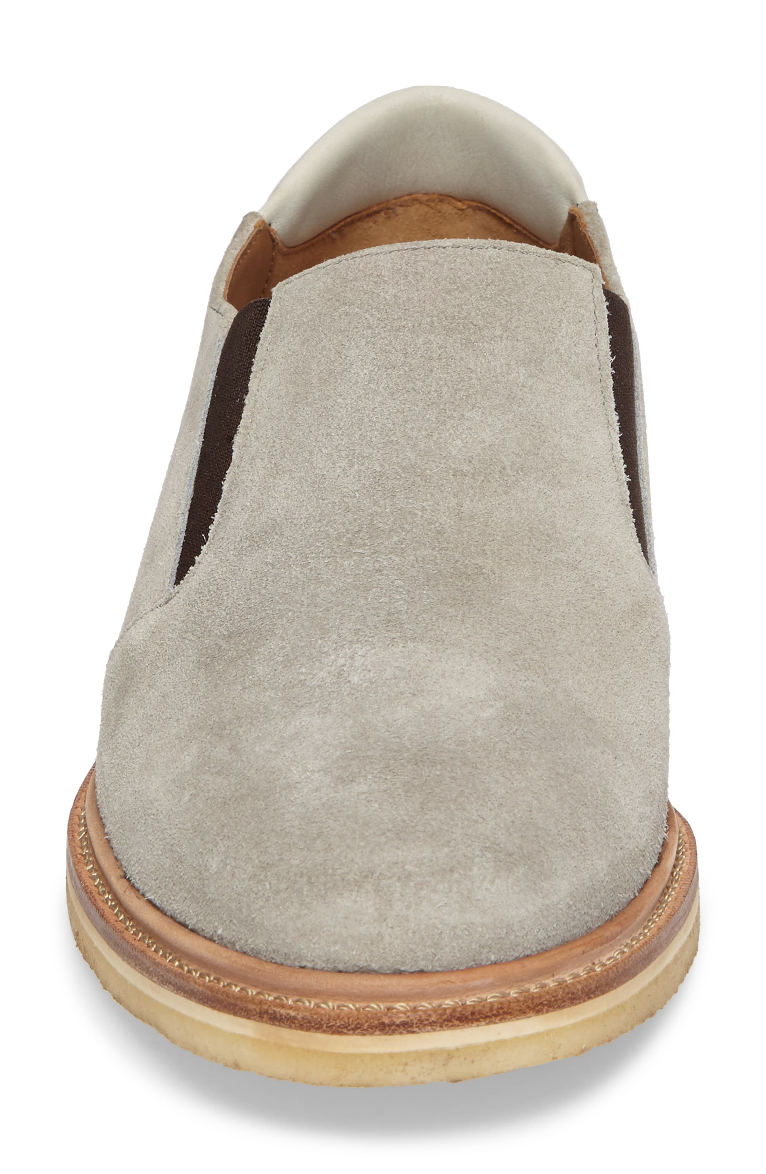 Linen Slip-On,                             Alternate thumbnail 4, color,                             Grey Suede