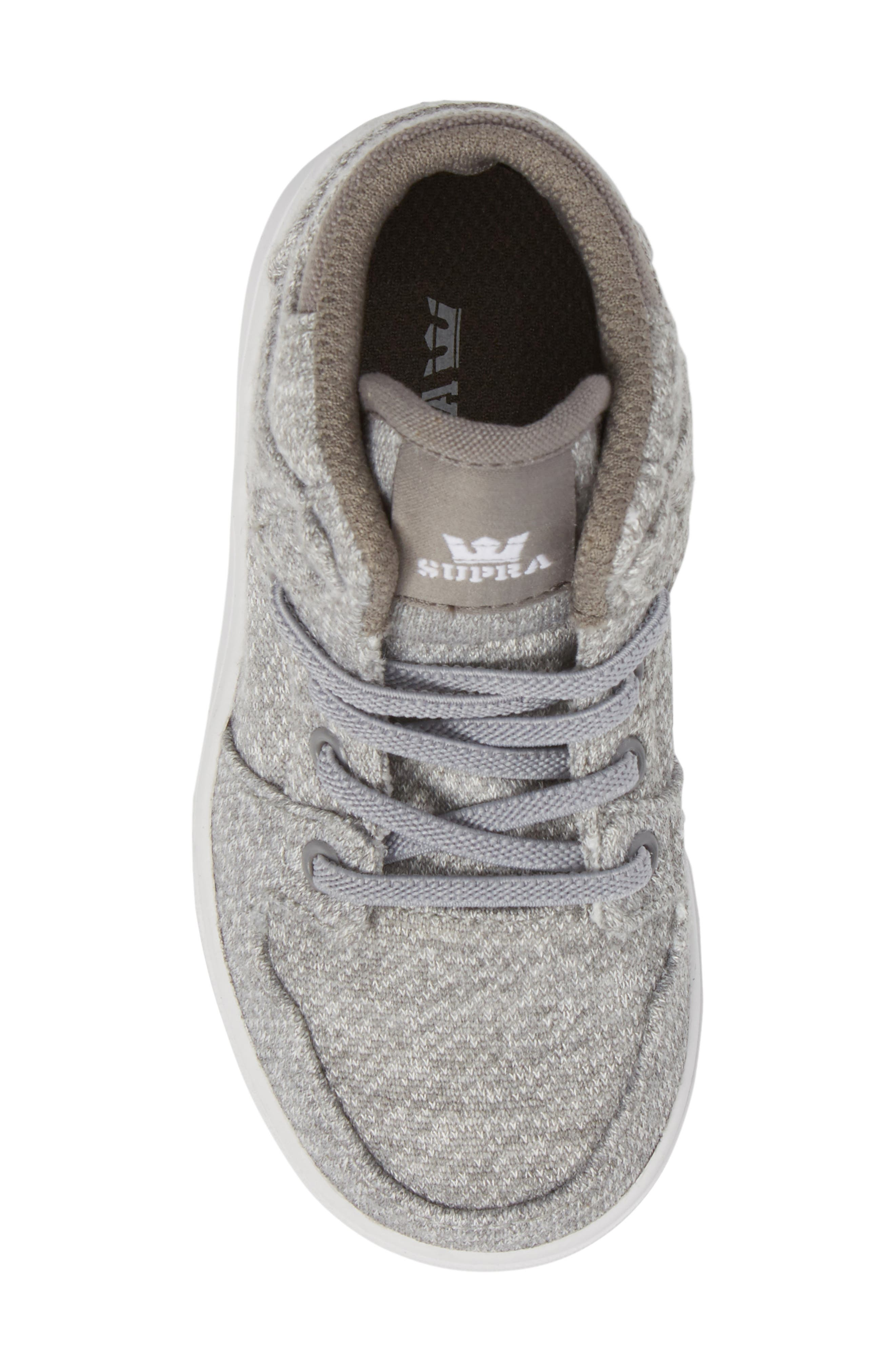 'Vaider' High Top Sneaker,                             Alternate thumbnail 4, color,                             Silver
