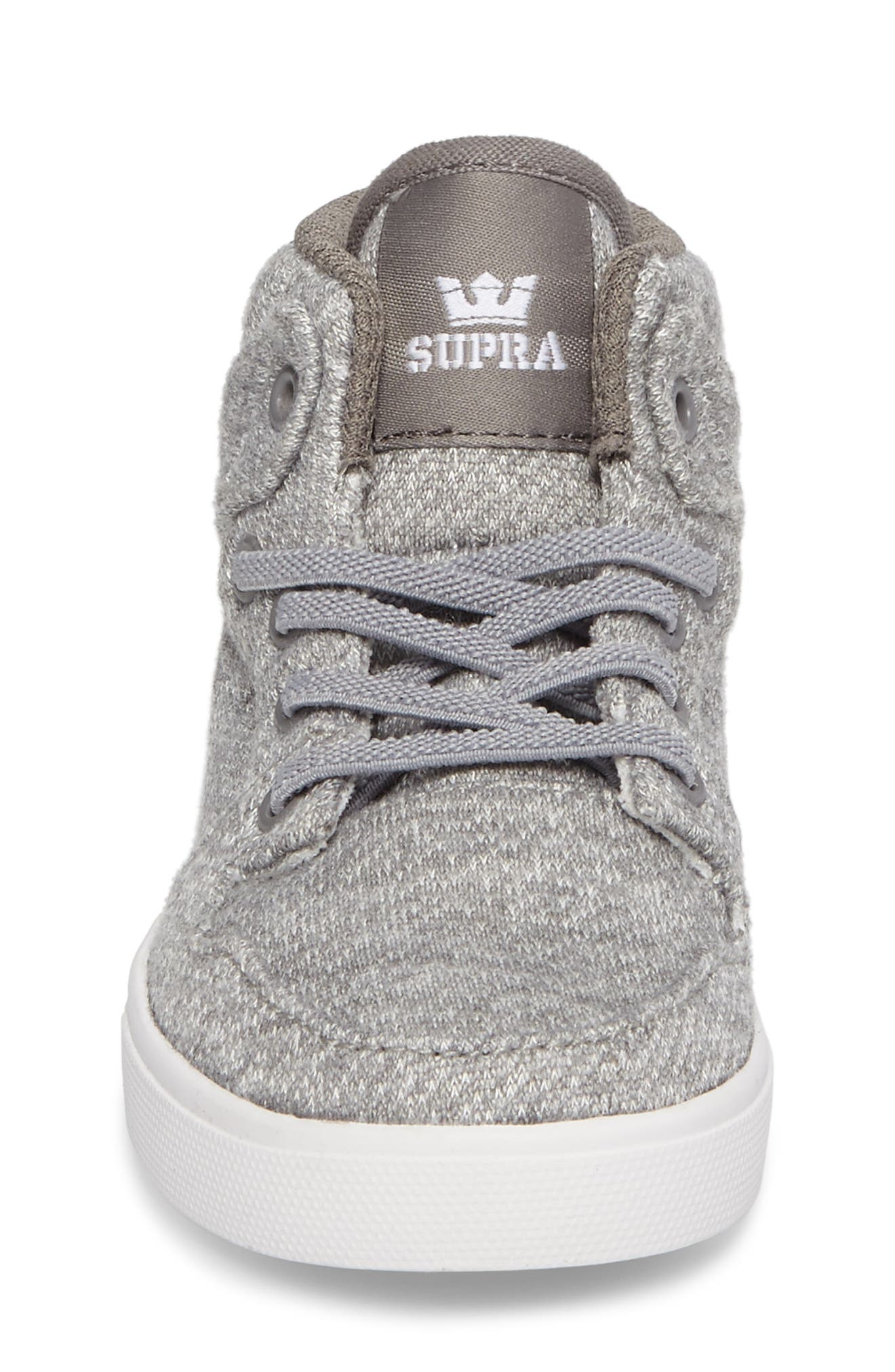 'Vaider' High Top Sneaker,                             Alternate thumbnail 3, color,                             Silver