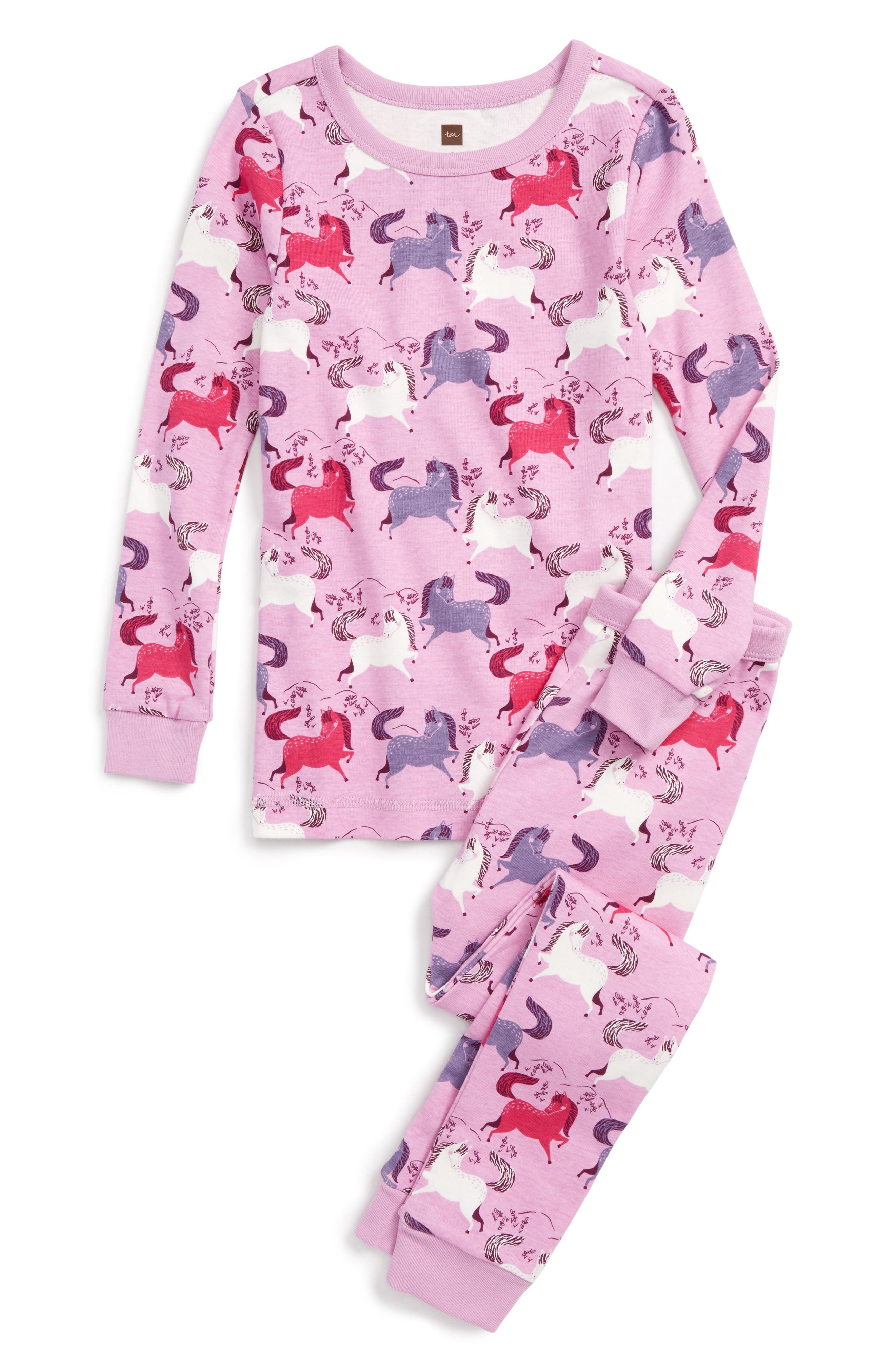 Alternate Image 1 Selected - Tea Collection Shetland Fitted Two-Piece Pajamas (Toddler Girls, Little Girls & Big Girls)