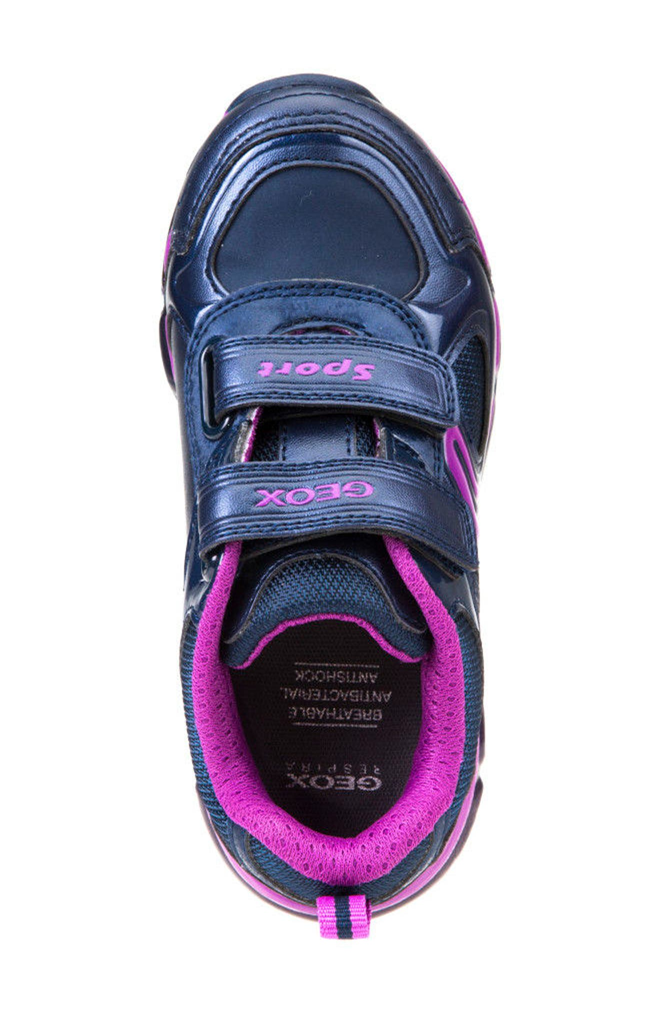 'Jr Android 2' Light-Up Sneaker,                             Alternate thumbnail 4, color,                             Navy/ Purple