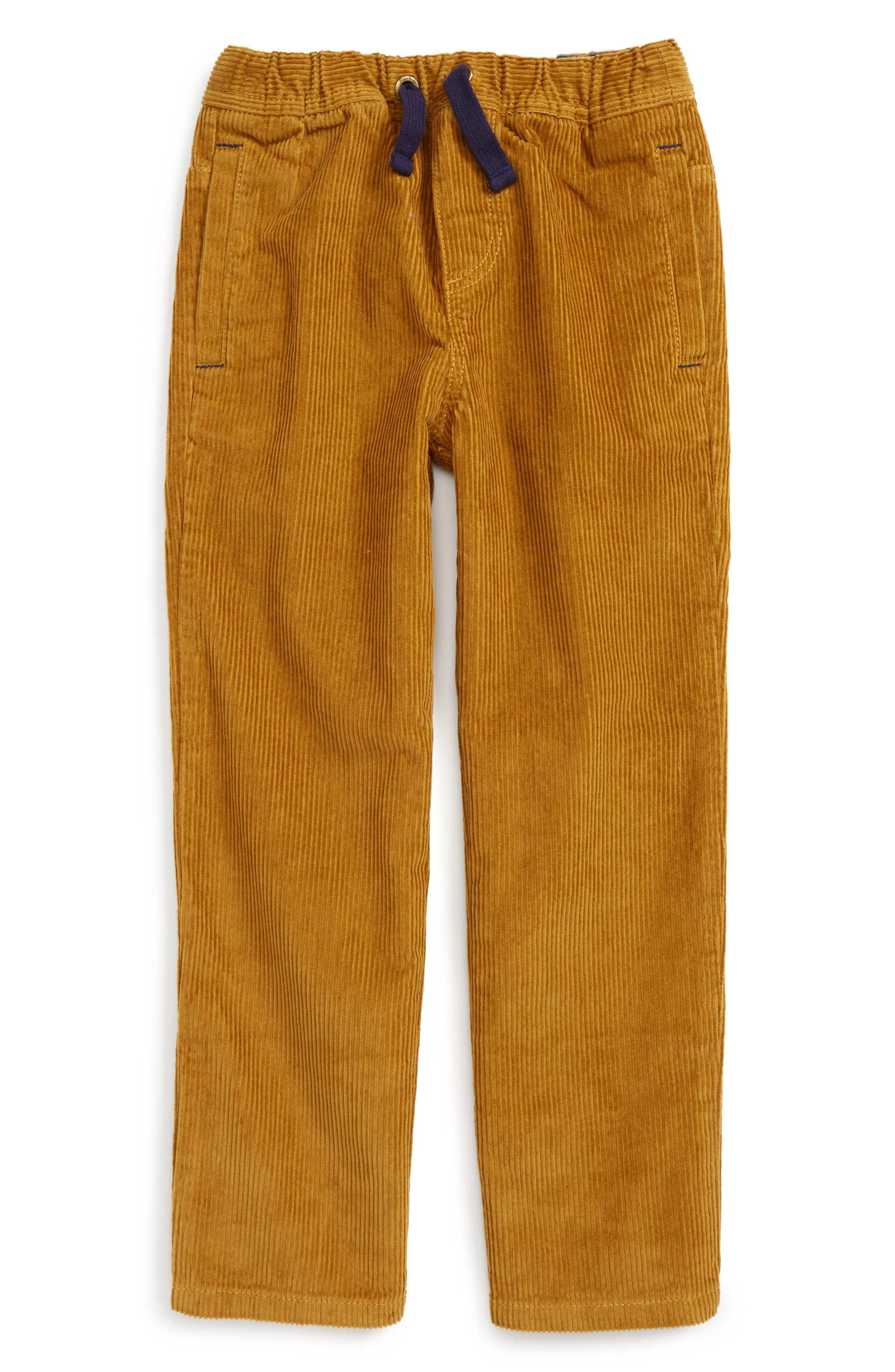 Corduroy Pants,                         Main,                         color, Classic Gold