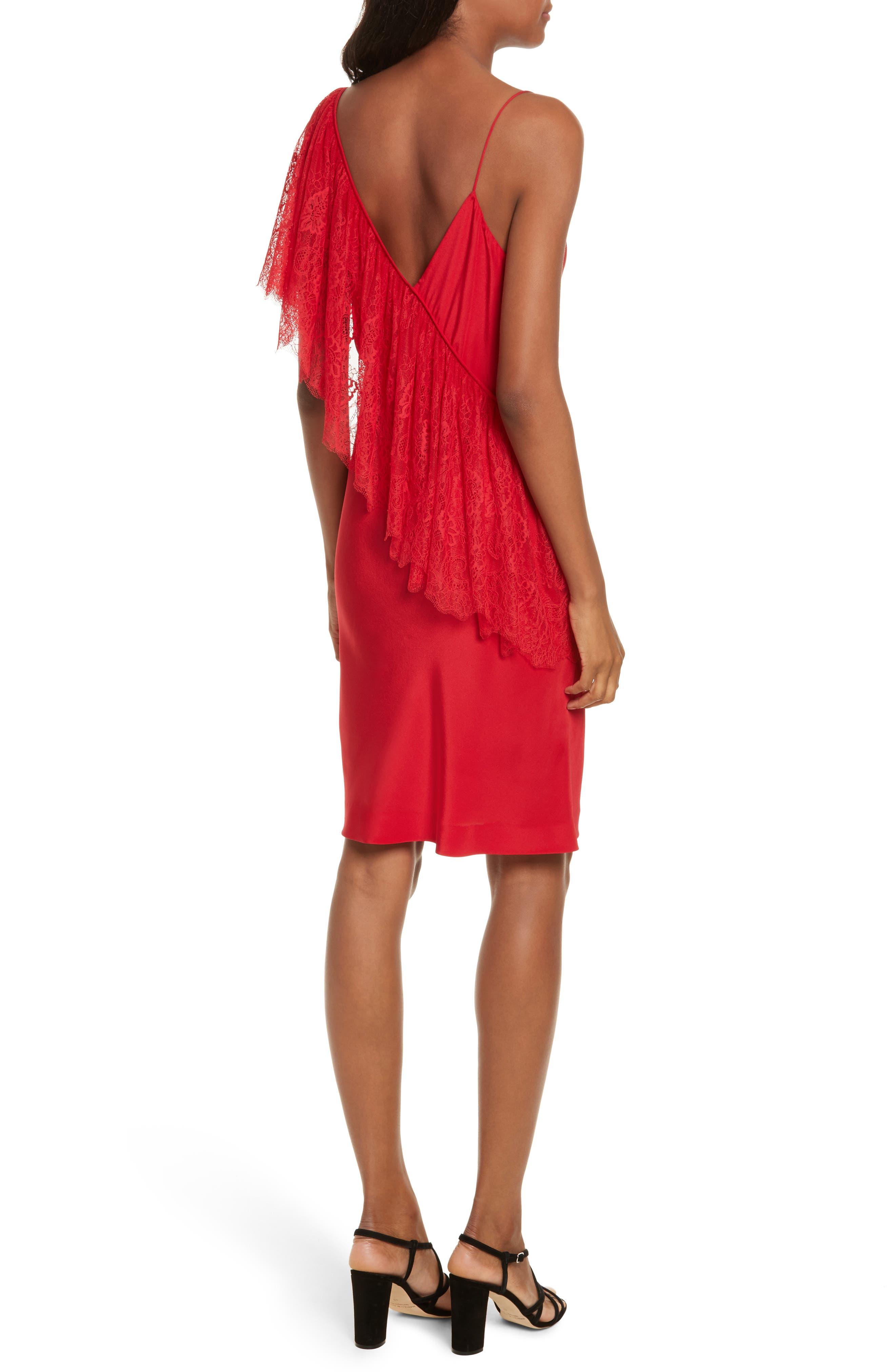 Alternate Image 2  - Diane von Furstenberg Ruffle Front Lace Dress