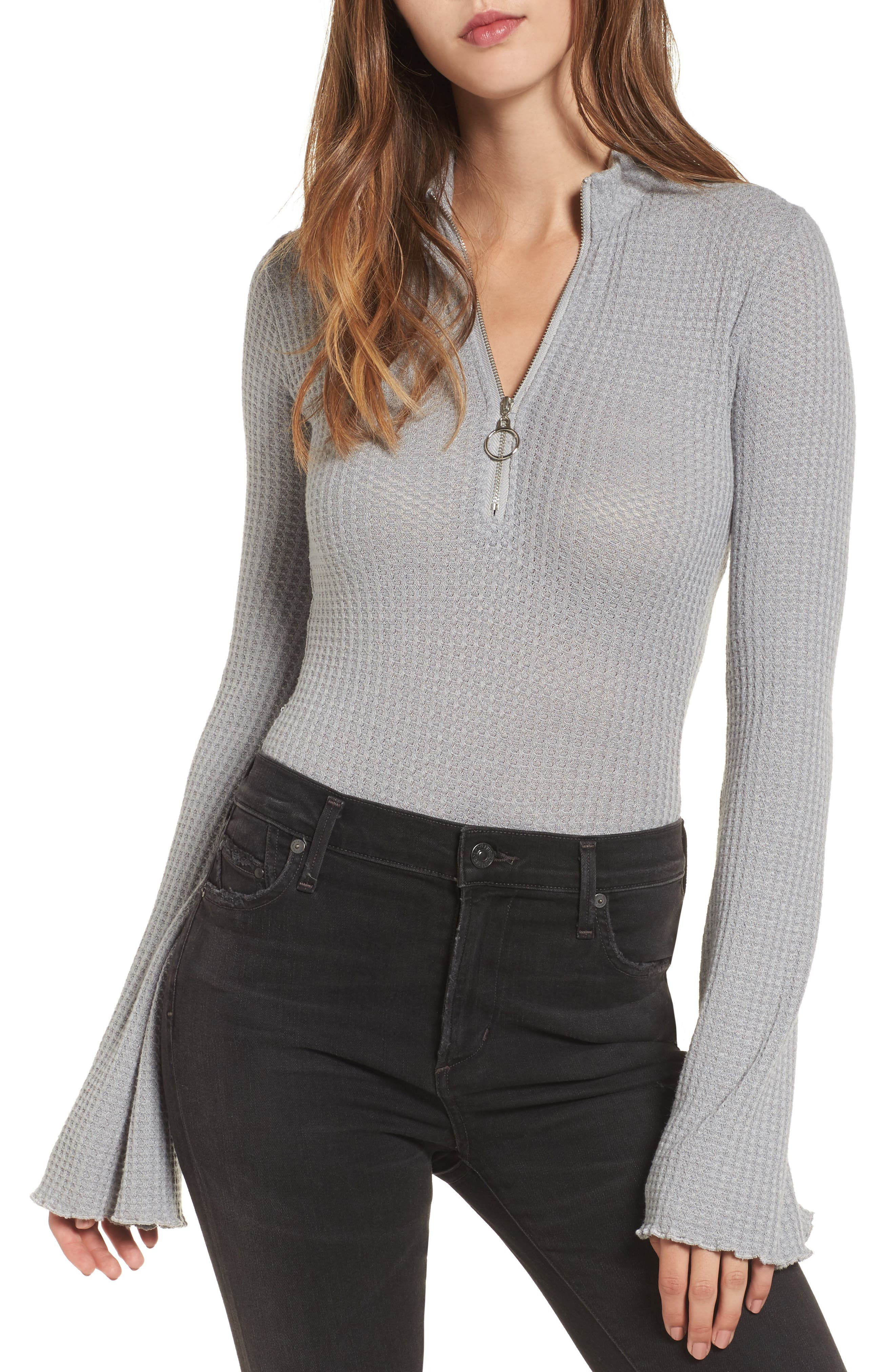 Somedays Lovin Starcrossed Lovers Half Zip Bodysuit
