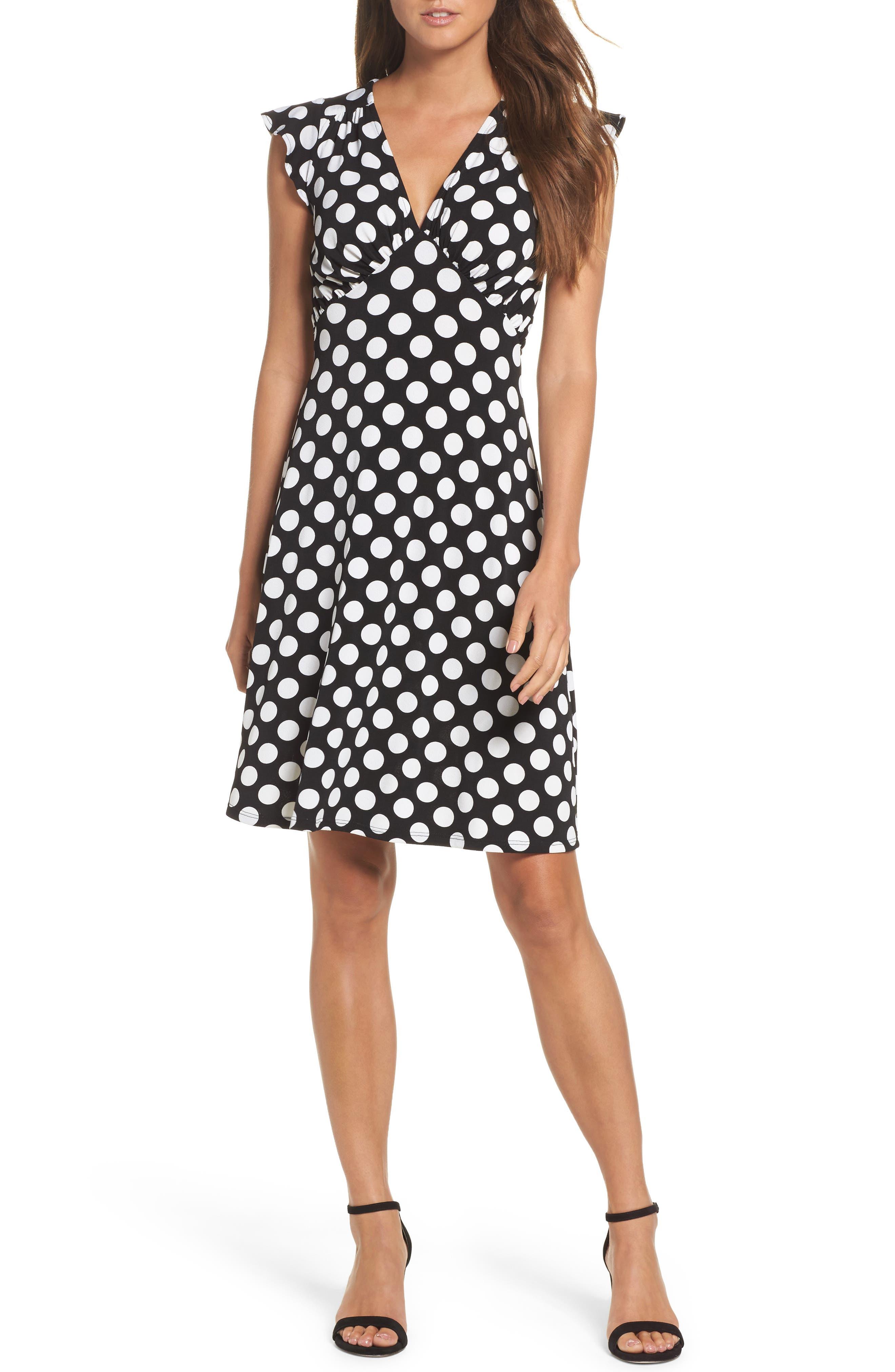 Leota Isabella Flutter Sleeve Dress