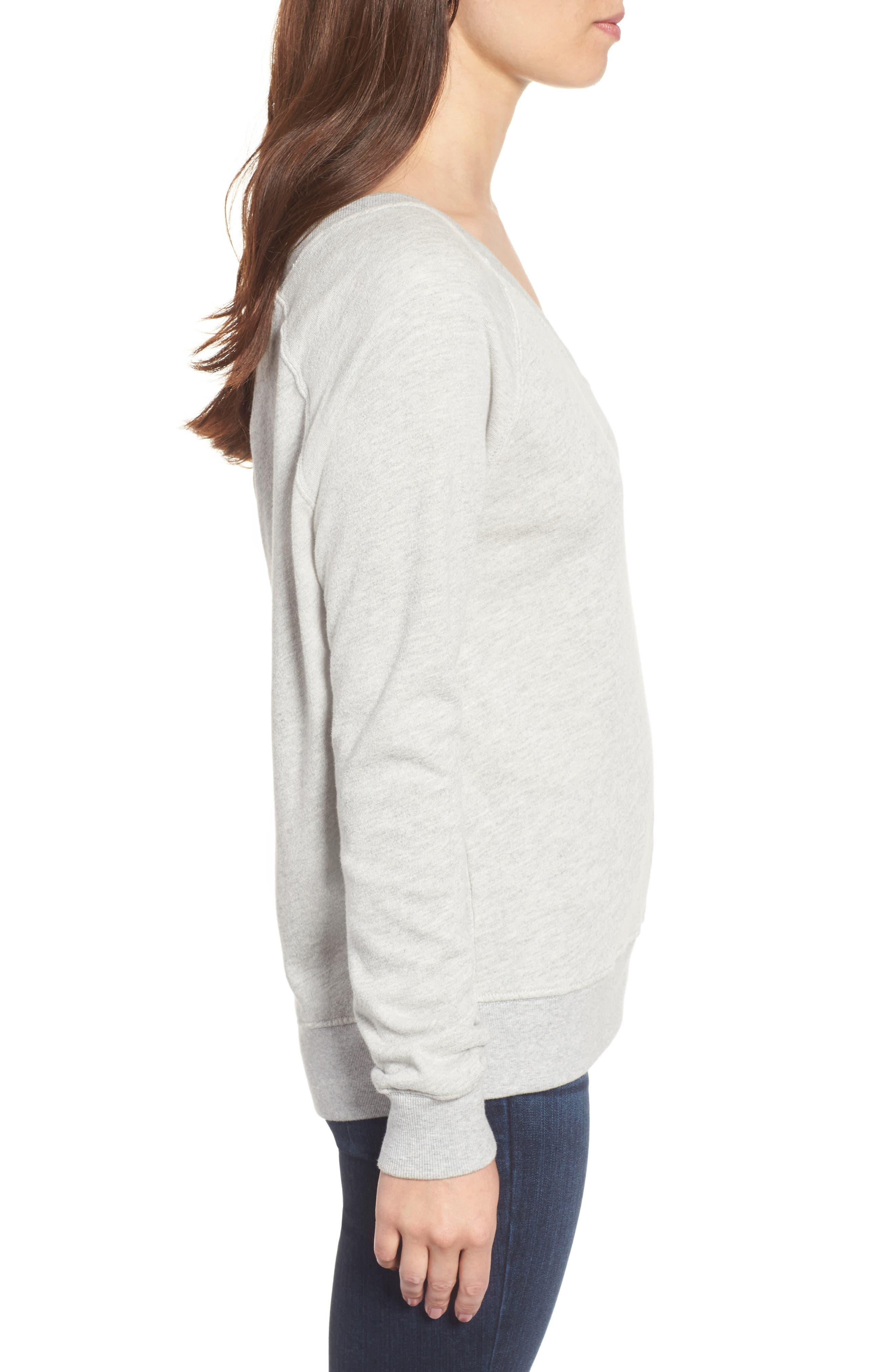 Alternate Image 3  - Pam & Gela One-Shoulder Sweatshirt