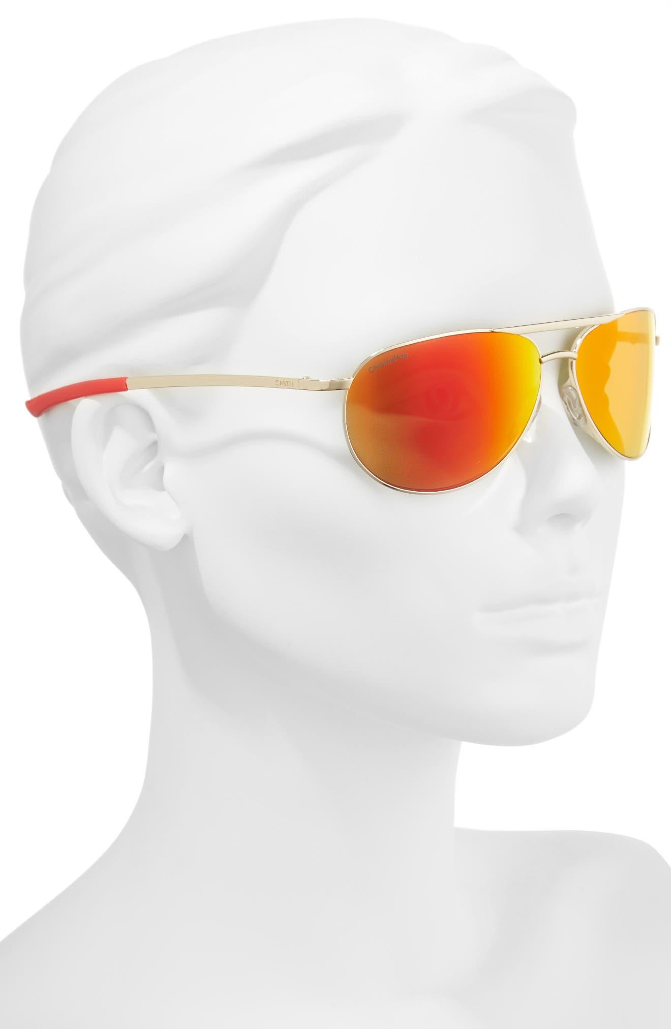 Alternate Image 2  - Smith Serpico Slim 2.0 60mm ChromaPop Polarized Aviator Sunglasses