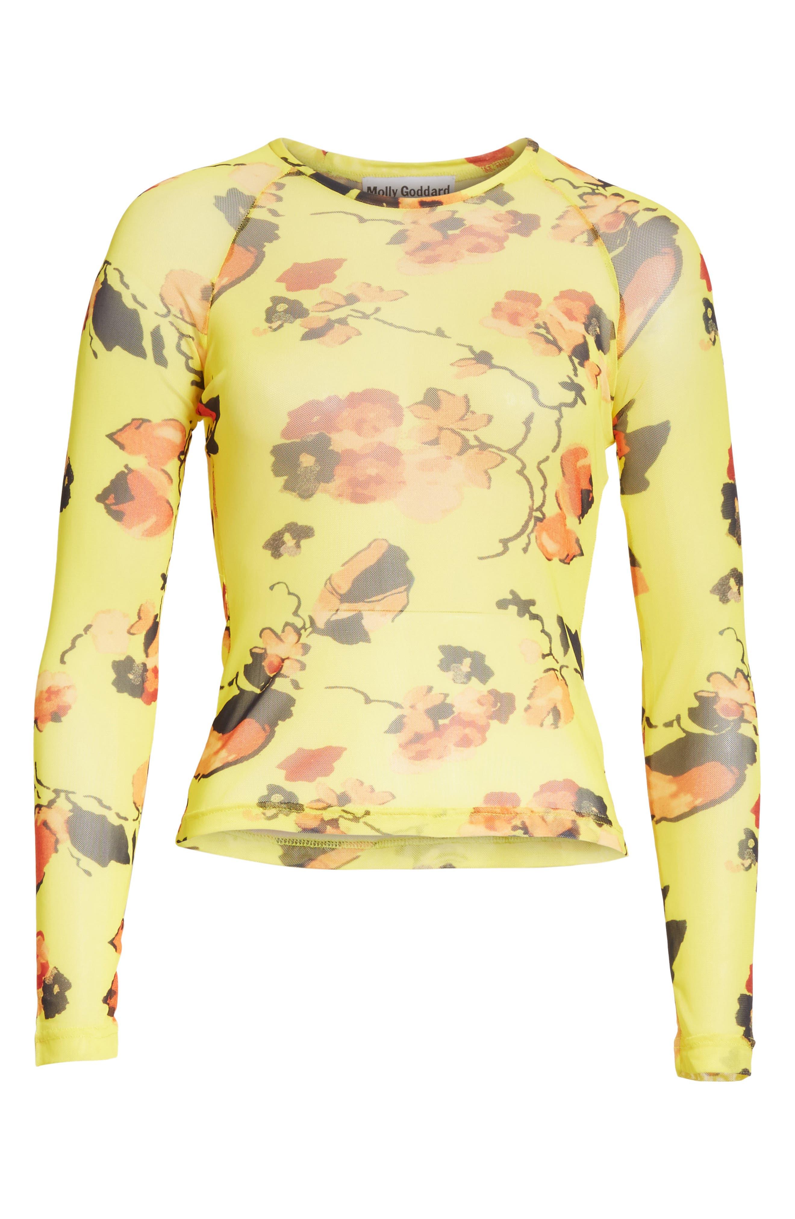 Alternate Image 6  - Molly Goddard Spike Floral Mesh Top