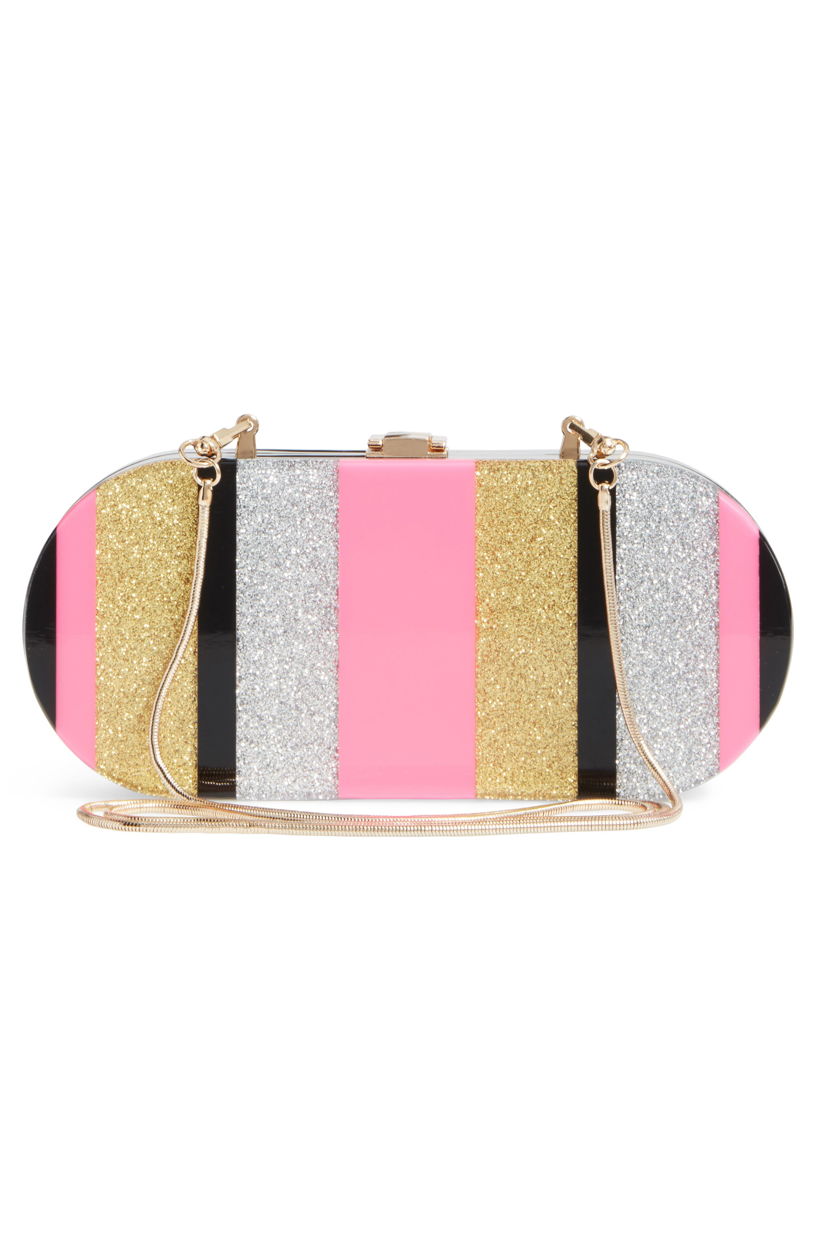 Geo Oval Clutch,                             Alternate thumbnail 3, color,                             Multi