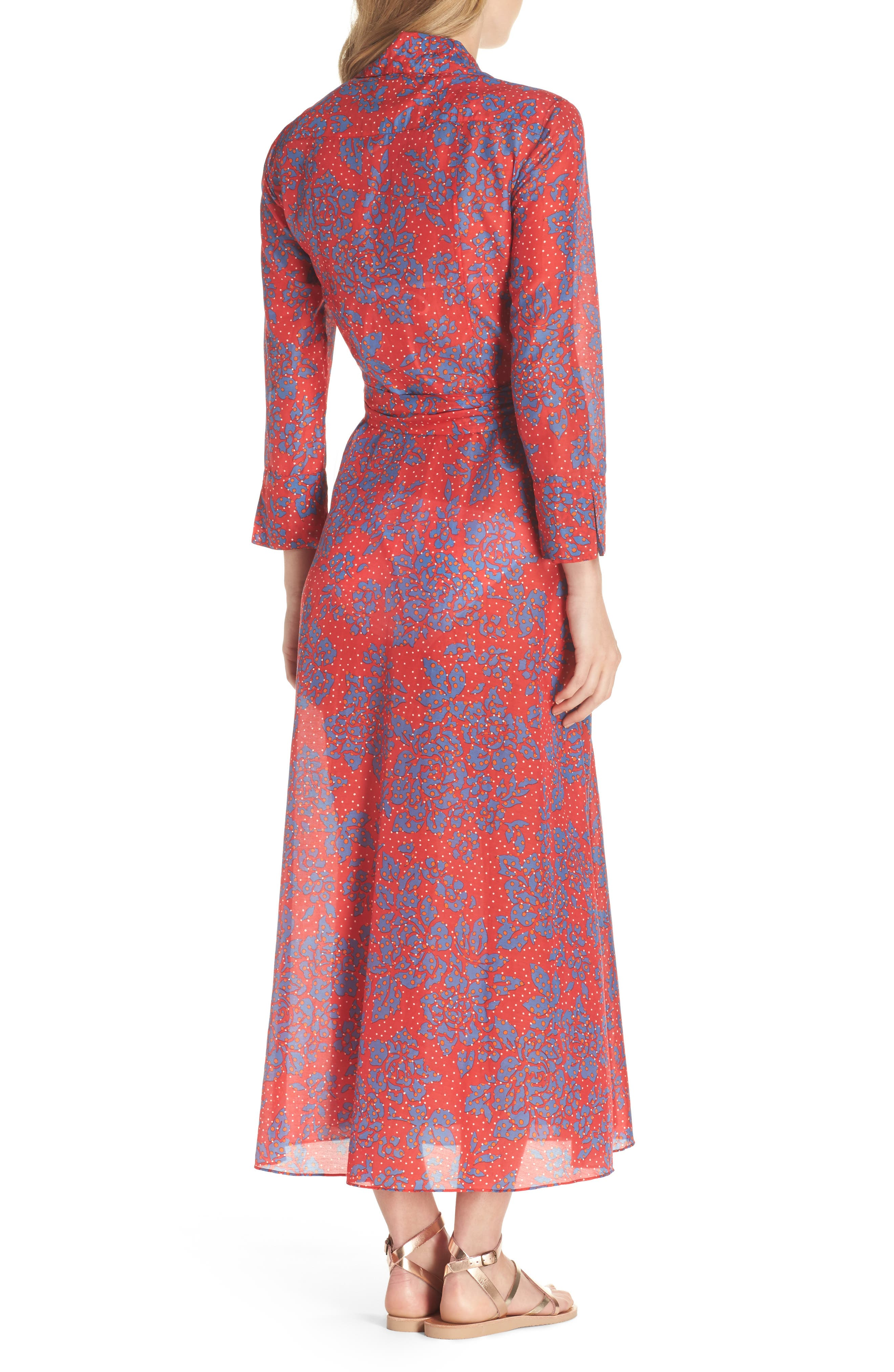 Alternate Image 2  - Diane von Furstenberg Long Cover-Up Wrap Dress