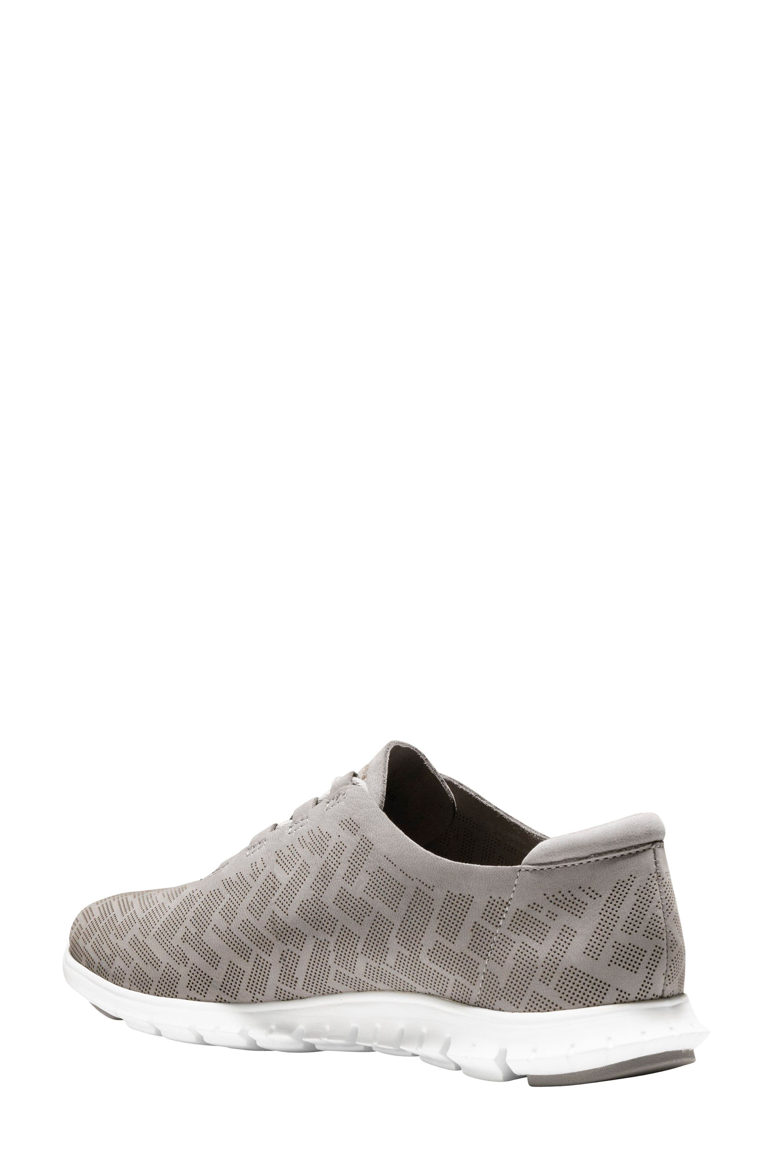 ZERØGRAND Genevieve Perforated Sneaker,                             Alternate thumbnail 2, color,                             Ironstone Perf Nubuck