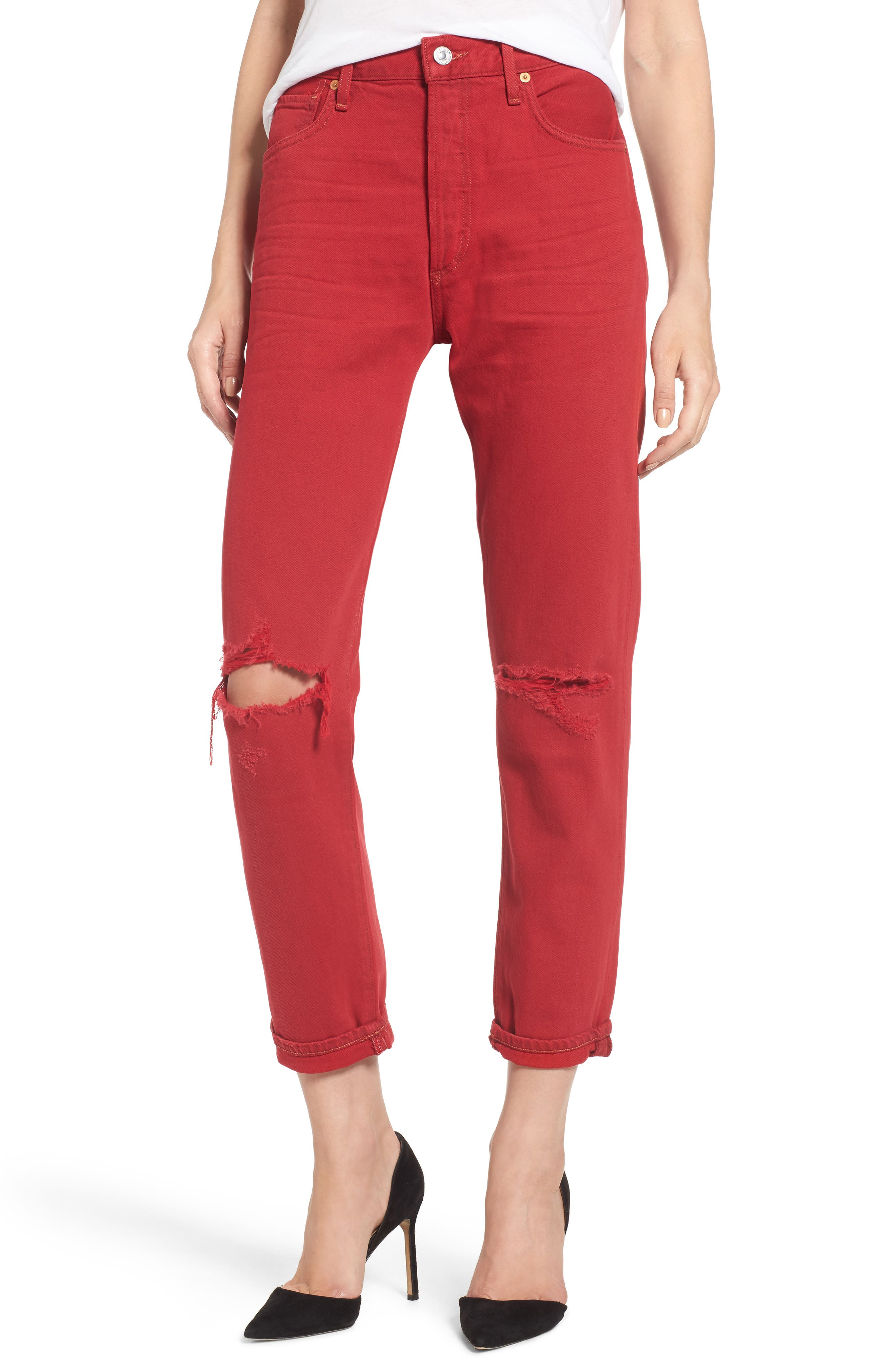 Citizens of Humanity Liya High Waist Slim Boyfriend Jeans (Double Dare)