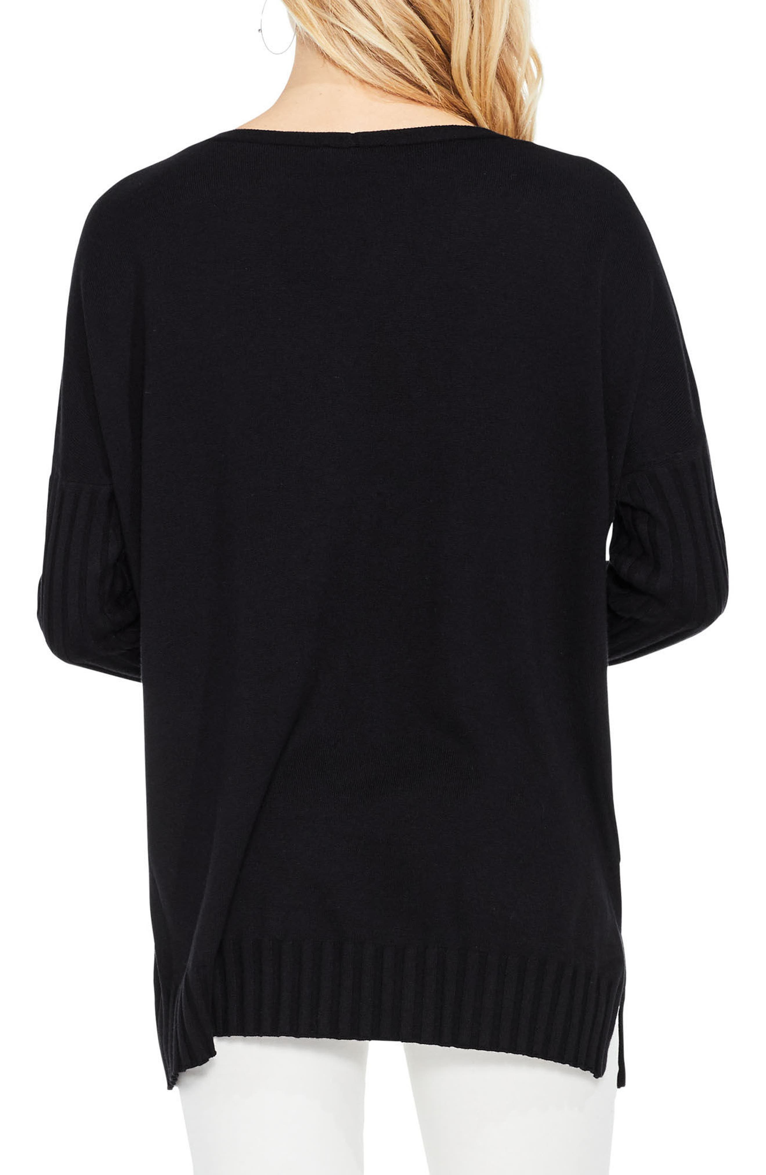 Alternate Image 2  - Vince Camuto Ribbed Sleeve Sweater