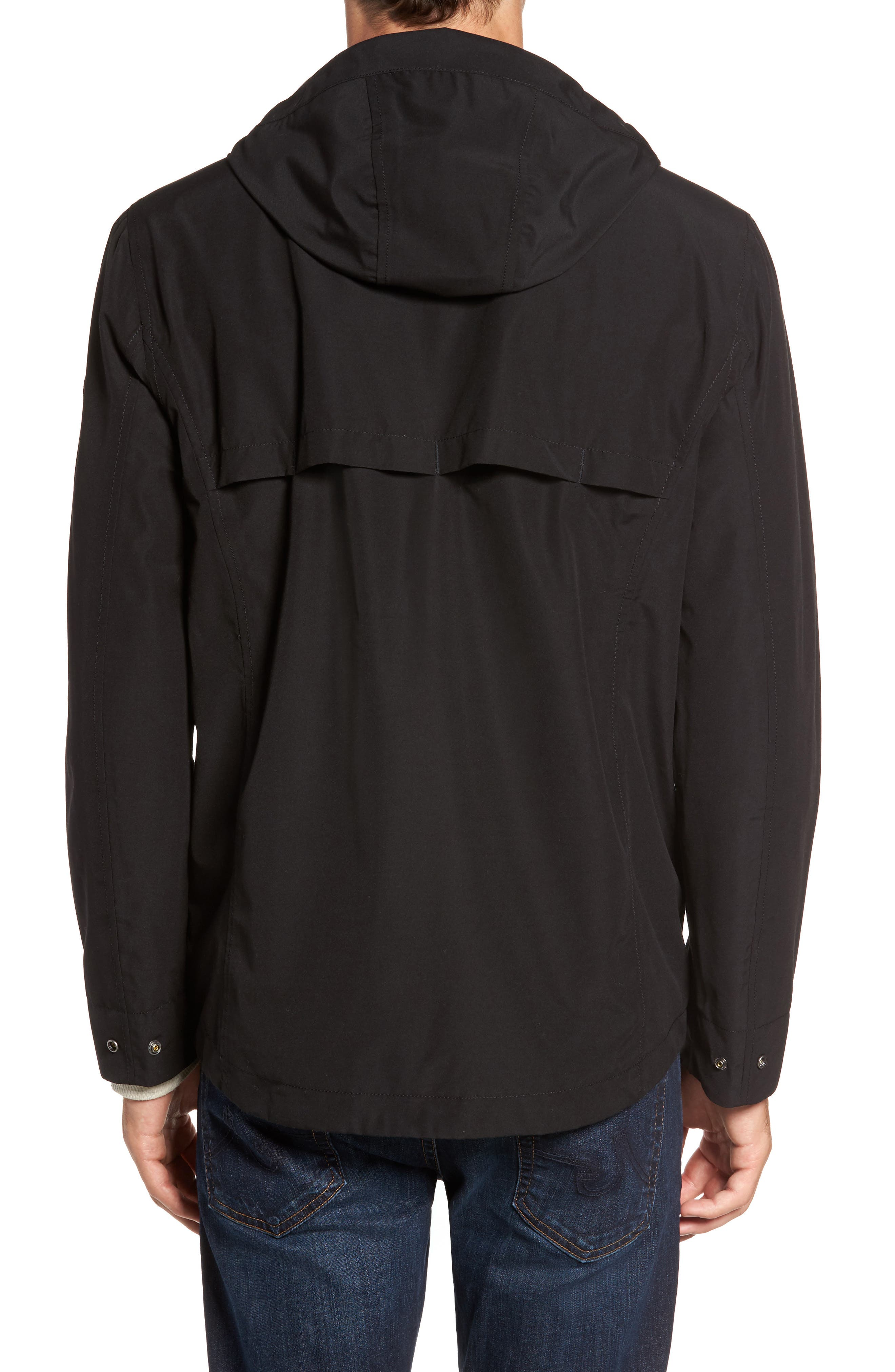 Ragged Mountain Packable Waterproof Jacket,                             Alternate thumbnail 2, color,                             Black
