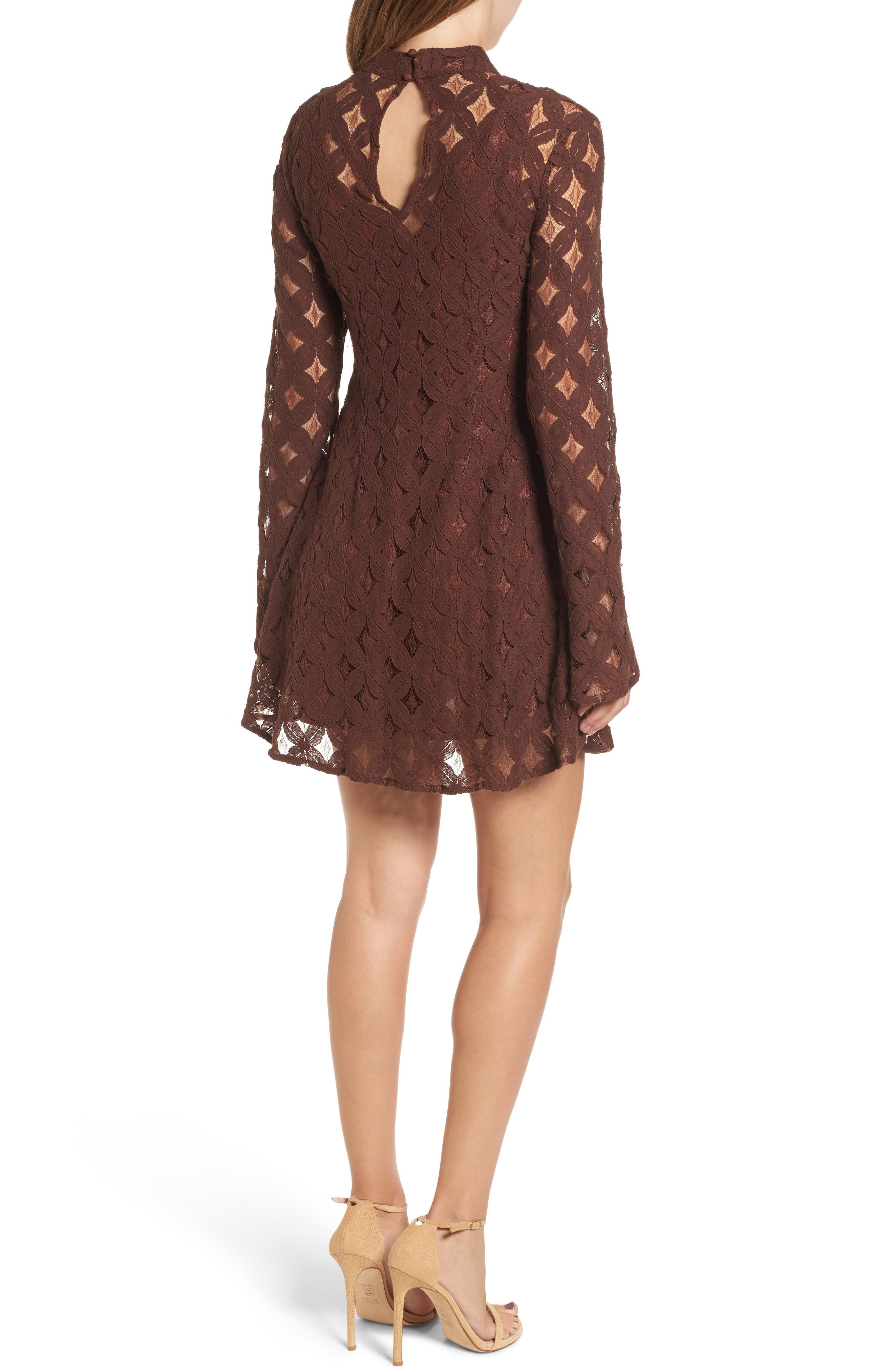 Alternate Image 2  - Somedays Lovin Crimson Hearts Lace Dress
