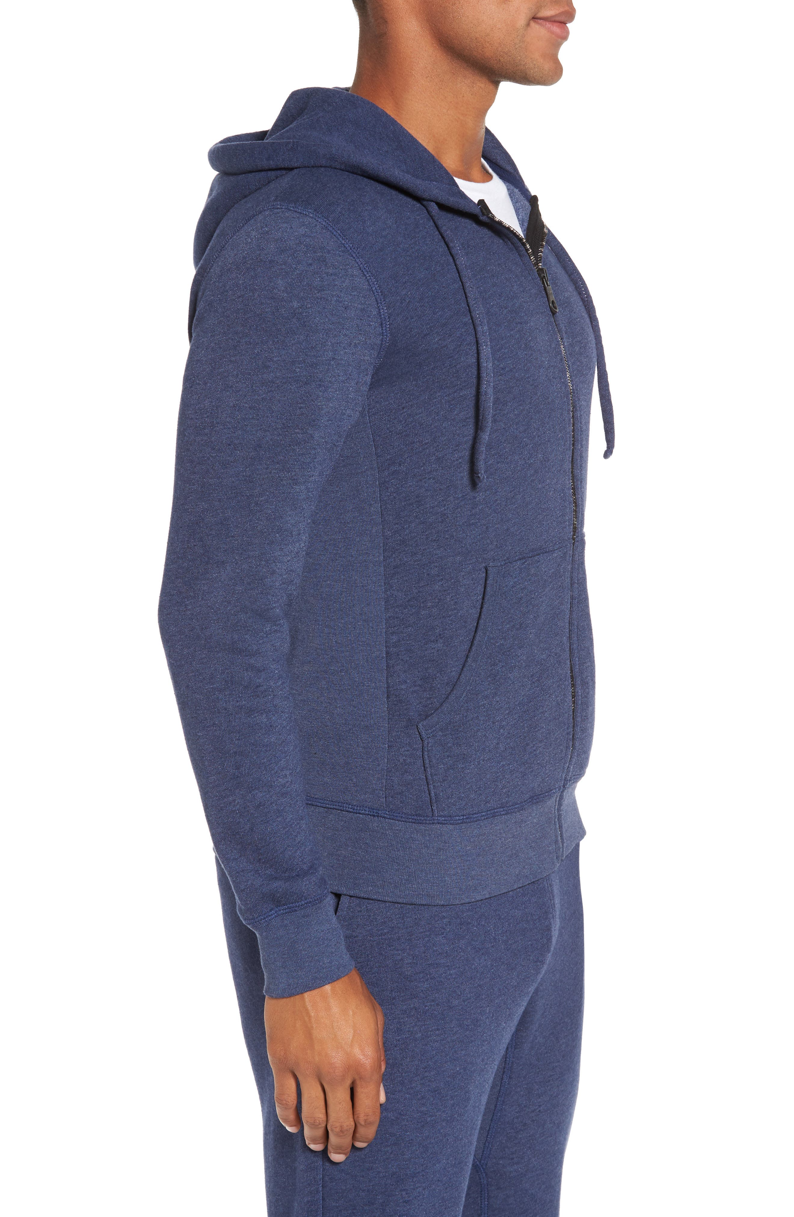 Zip Front Hoodie,                             Alternate thumbnail 3, color,                             Goodlife Navy