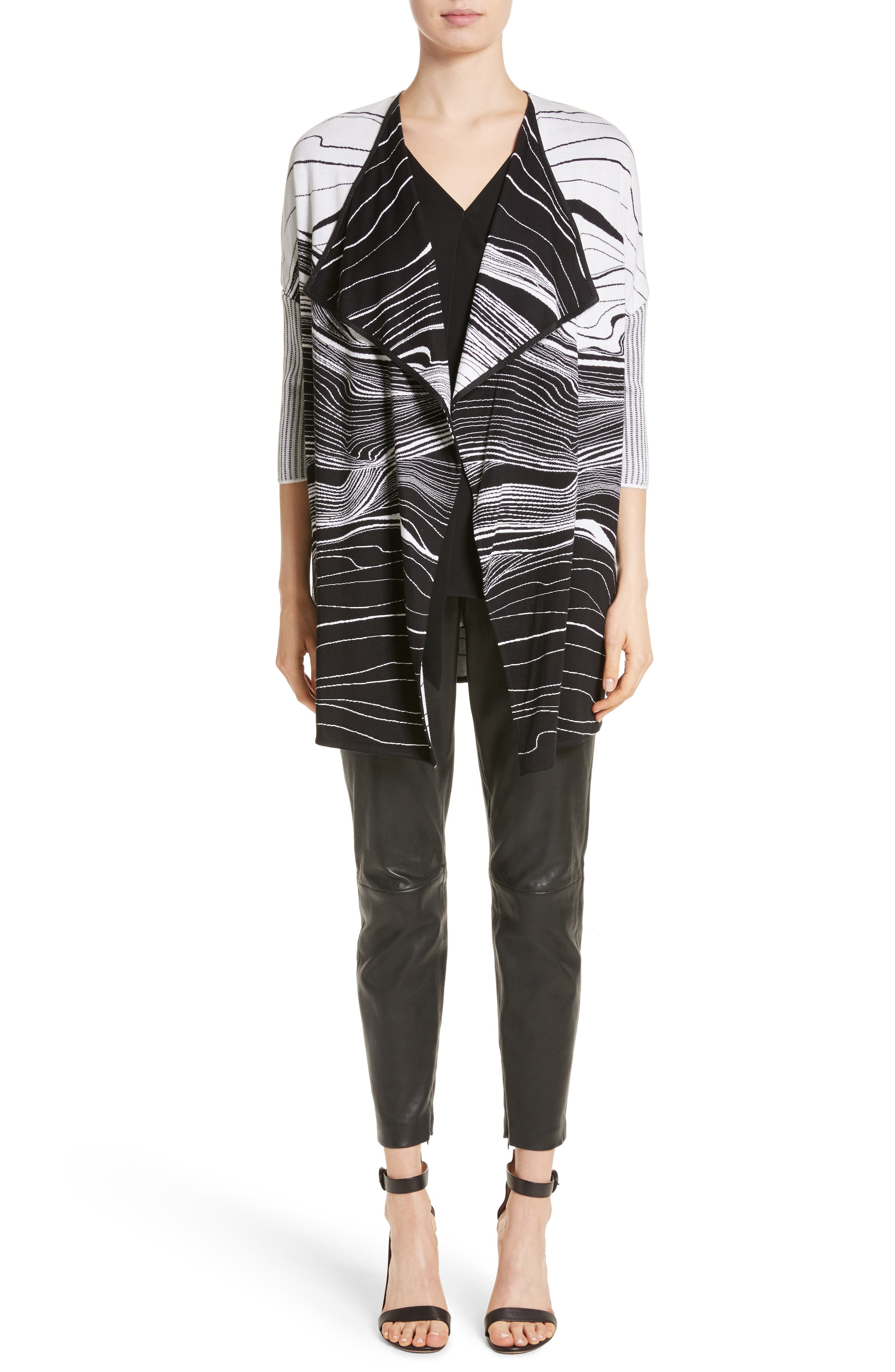 Alternate Image 14  - St. John Collection Stretch Nappa Leather Crop Pants