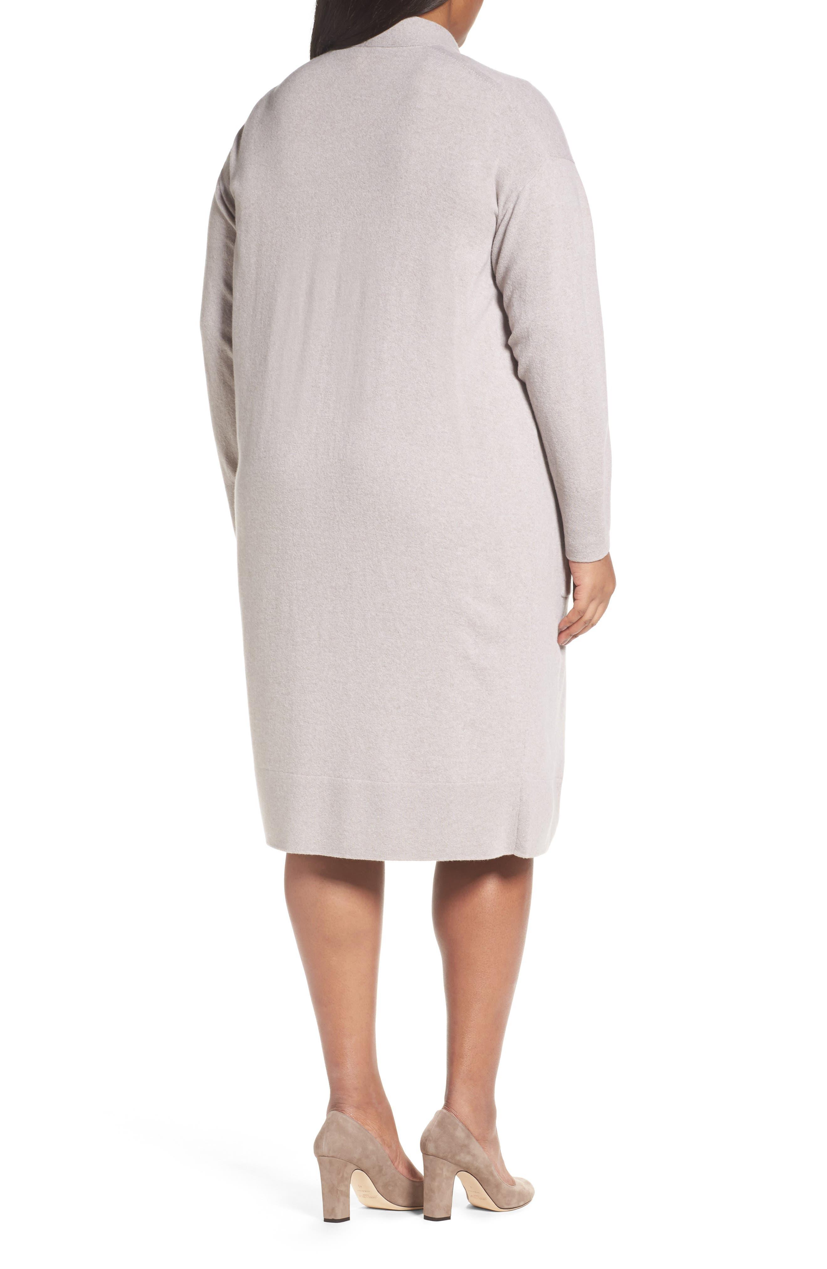 Long Merino Wool & Cashmere Cardigan,                             Alternate thumbnail 2, color,                             Luxor Melange