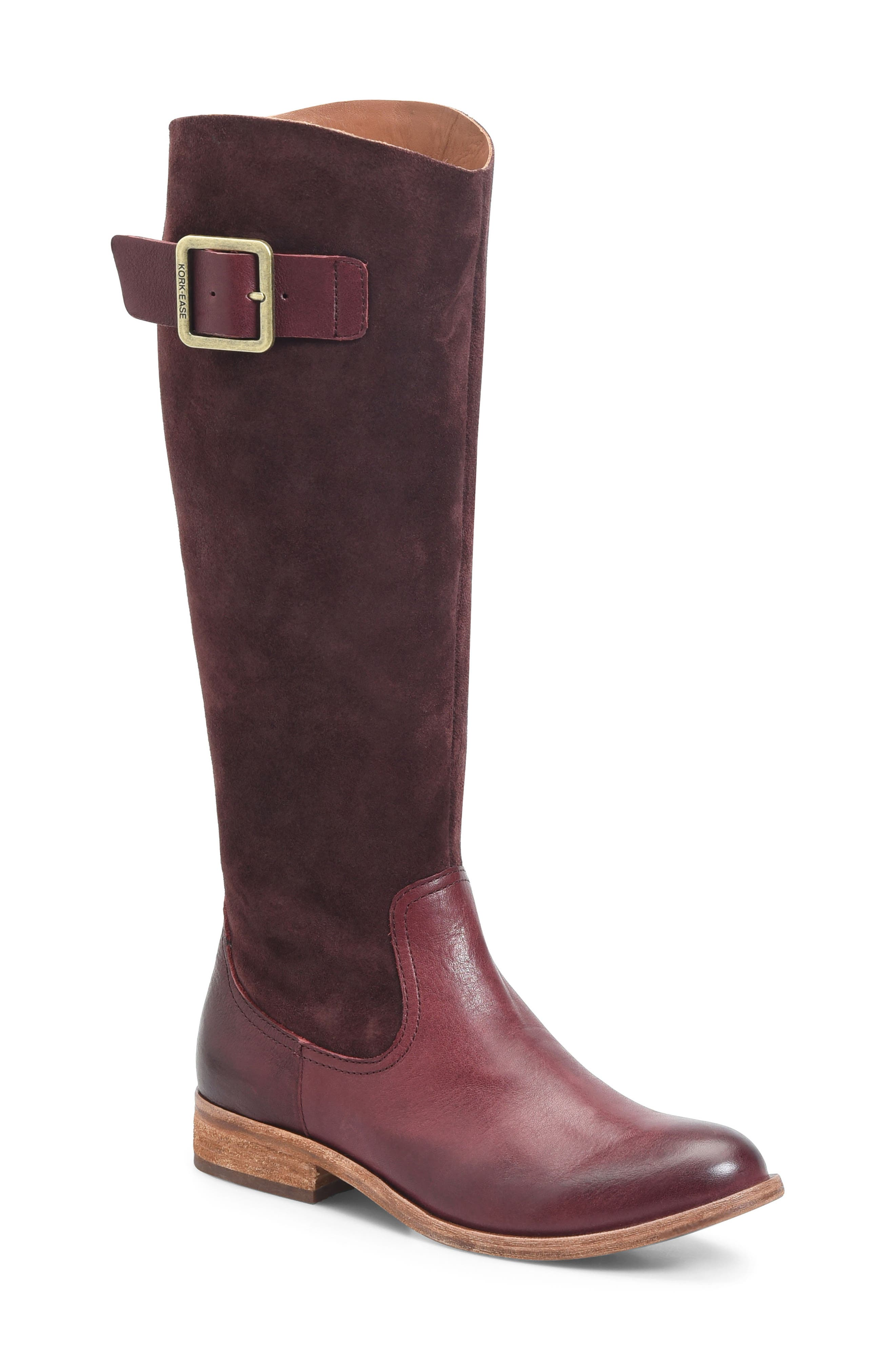 Rue Tall Boot,                         Main,                         color, Burgundy/Burgundy Combo
