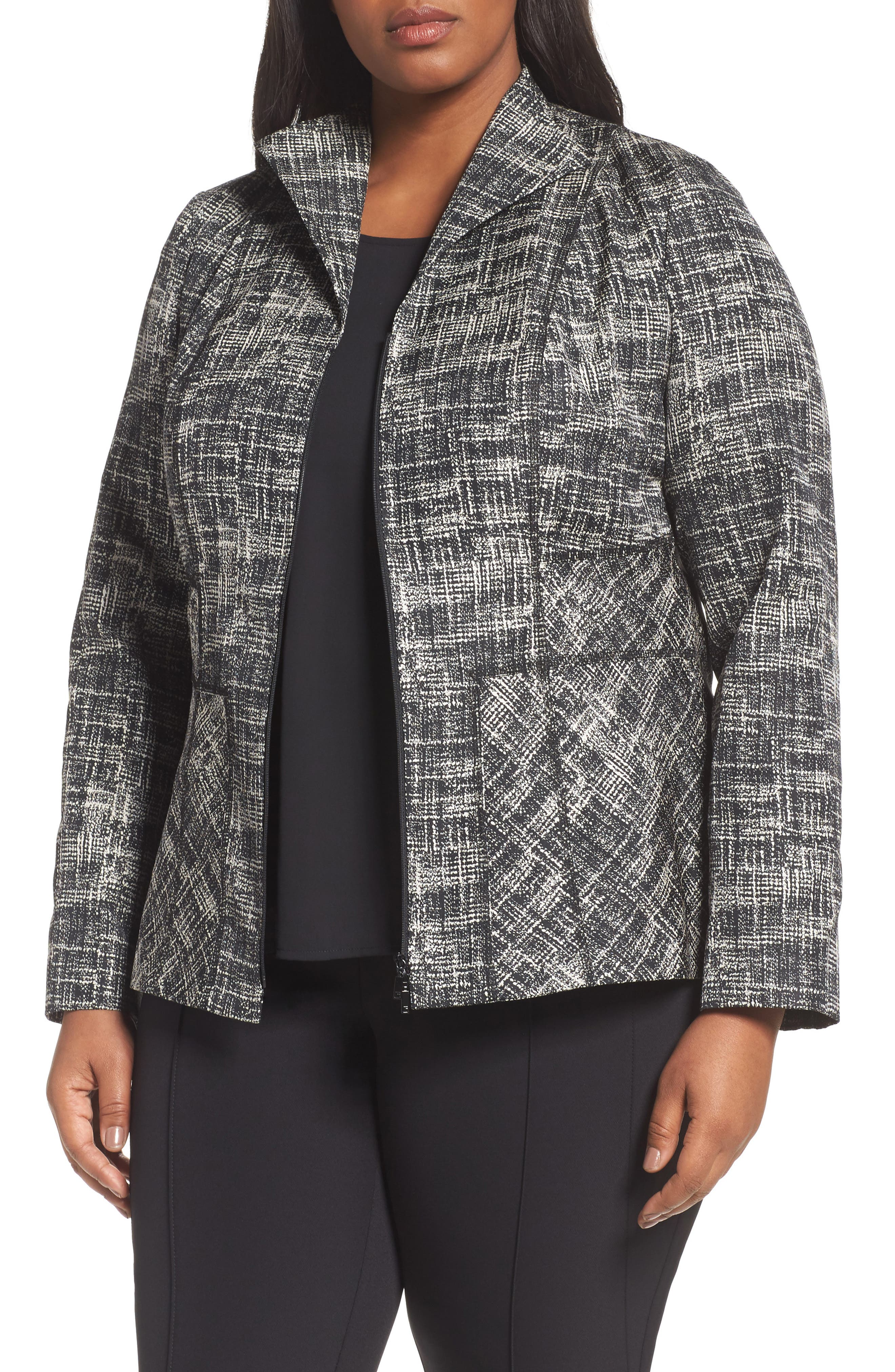 Britta Jacket,                             Main thumbnail 1, color,                             Black Multi