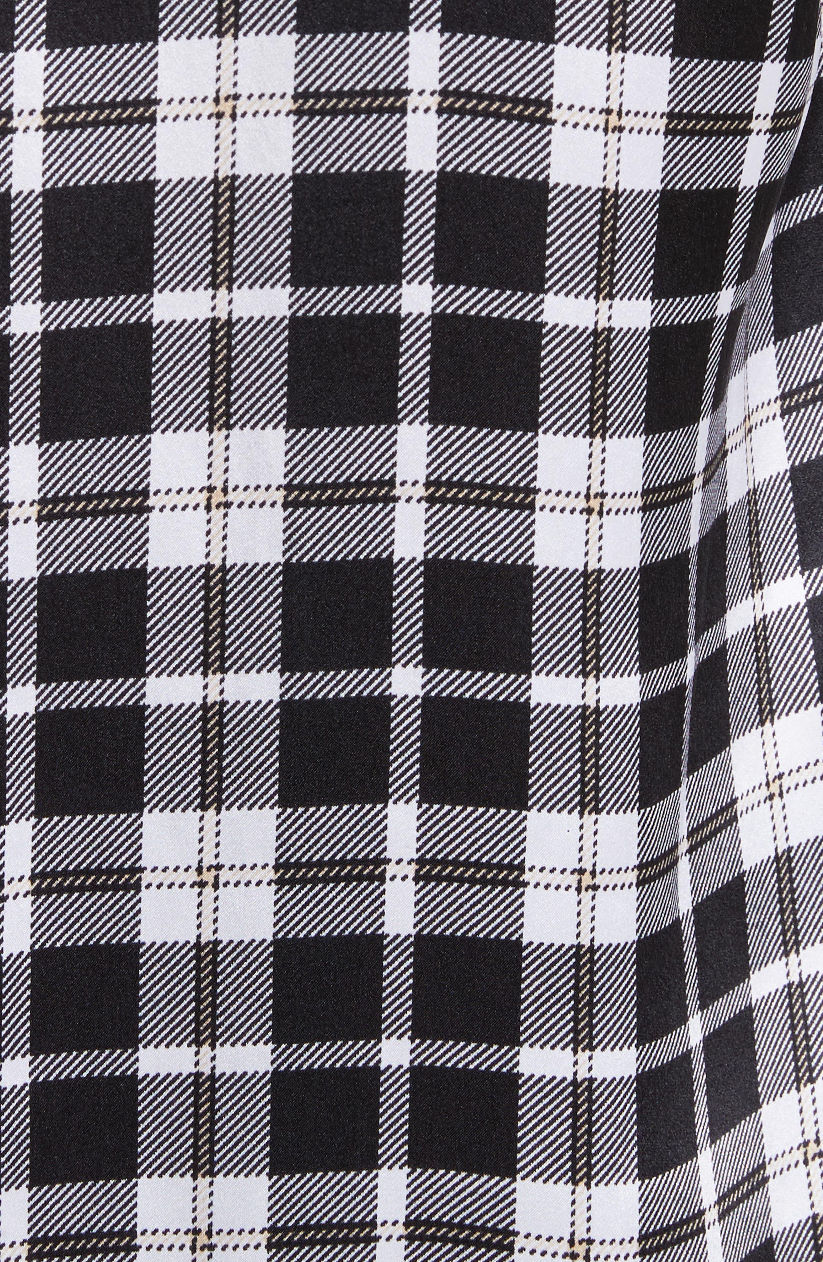 Essential Tie Neck Silk Shirt,                             Alternate thumbnail 5, color,                             Bright White-Palo Sa