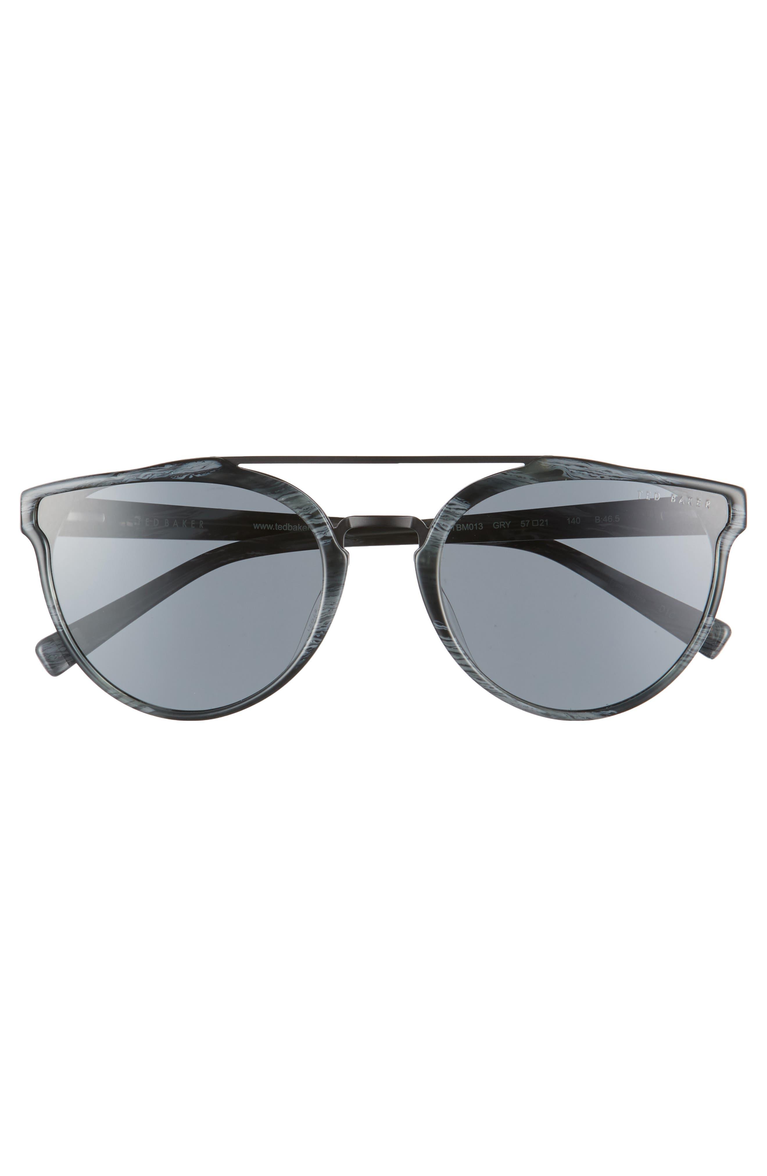 Alternate Image 2  - Ted Baker London Retro 57mm Polarized Sunglasses