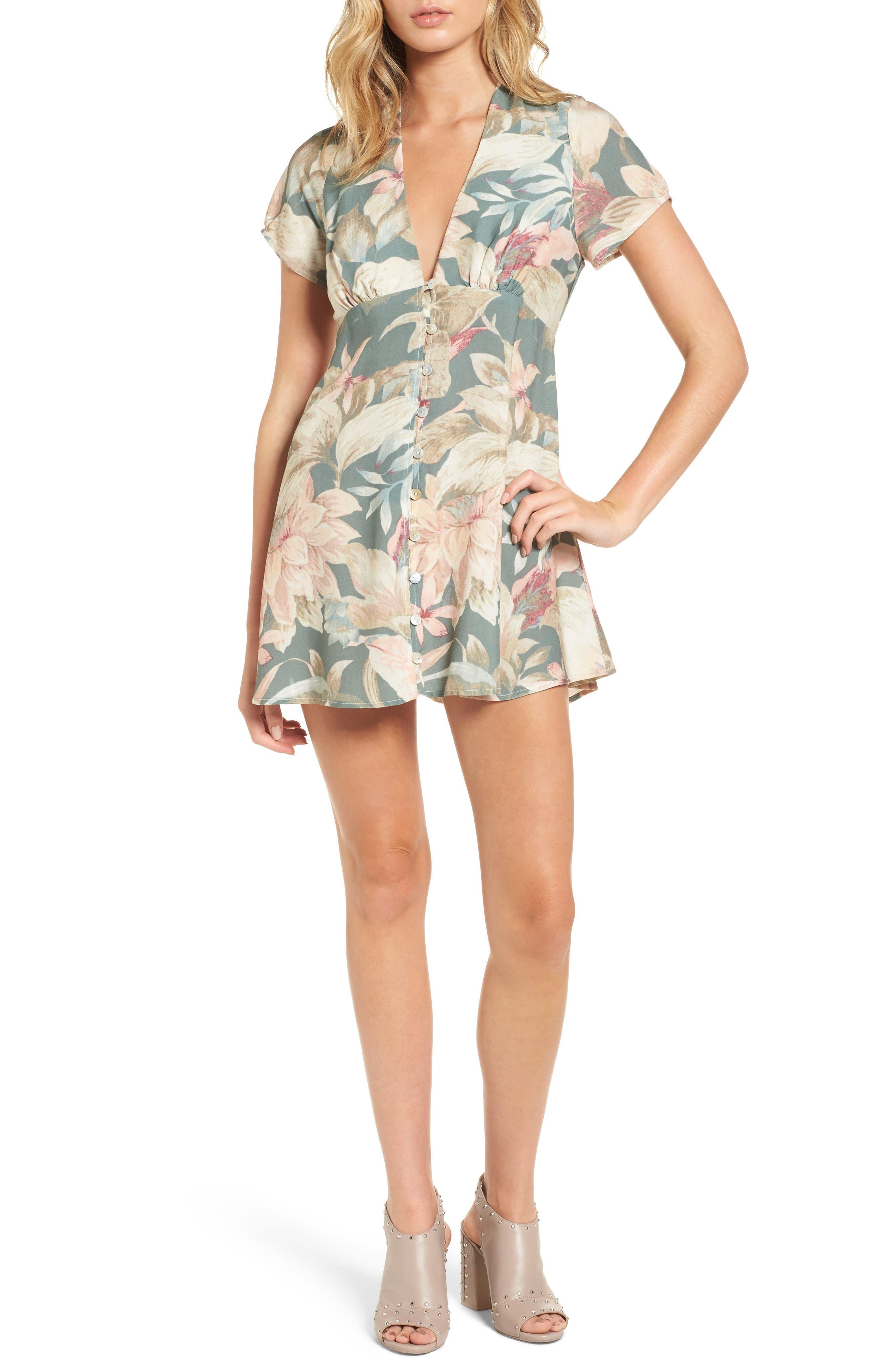Robyn Babydoll Dress,                         Main,                         color, Petal Pines Breeze
