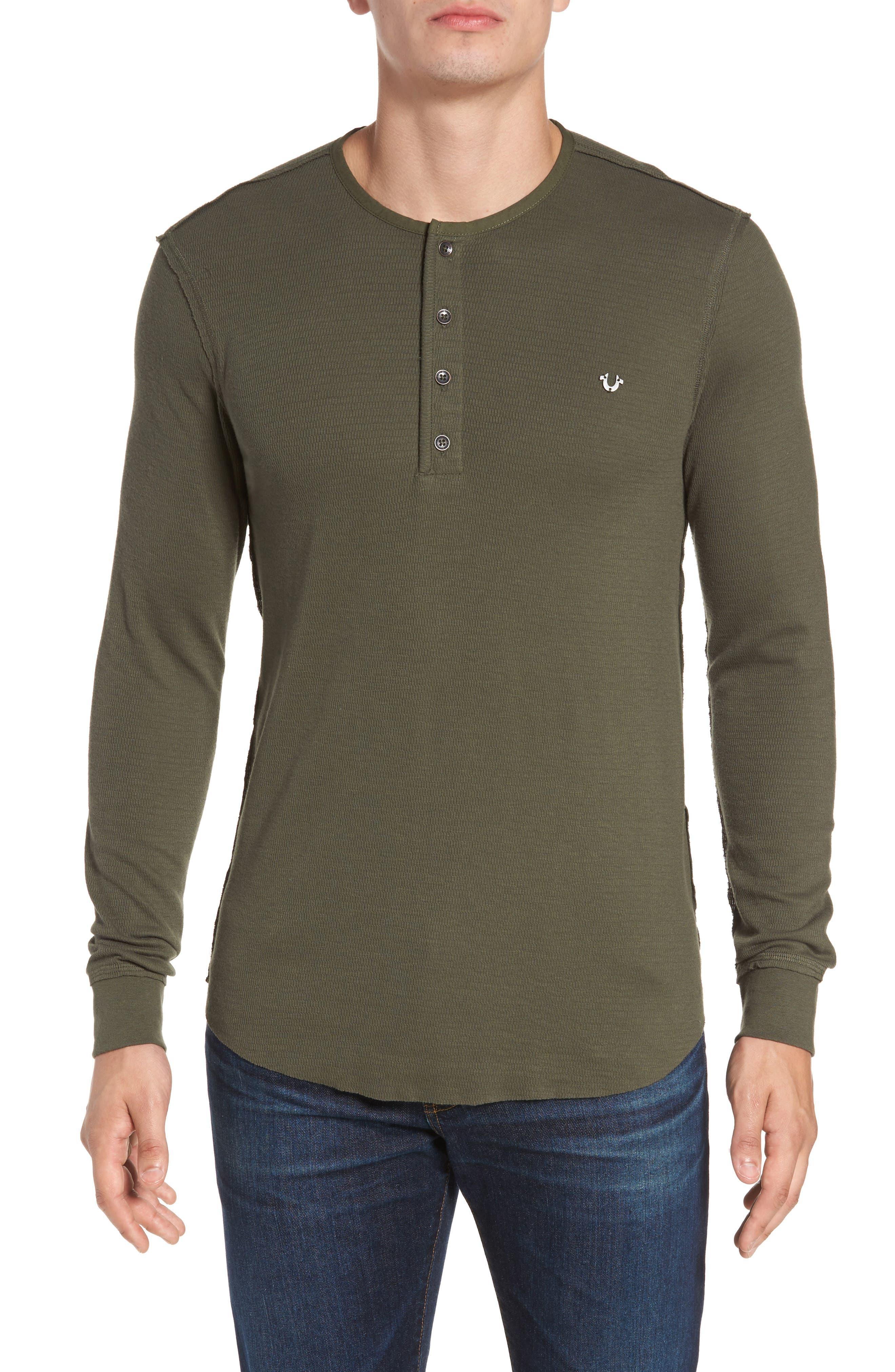 True Religion Brand Jeans Henley T-Shirt