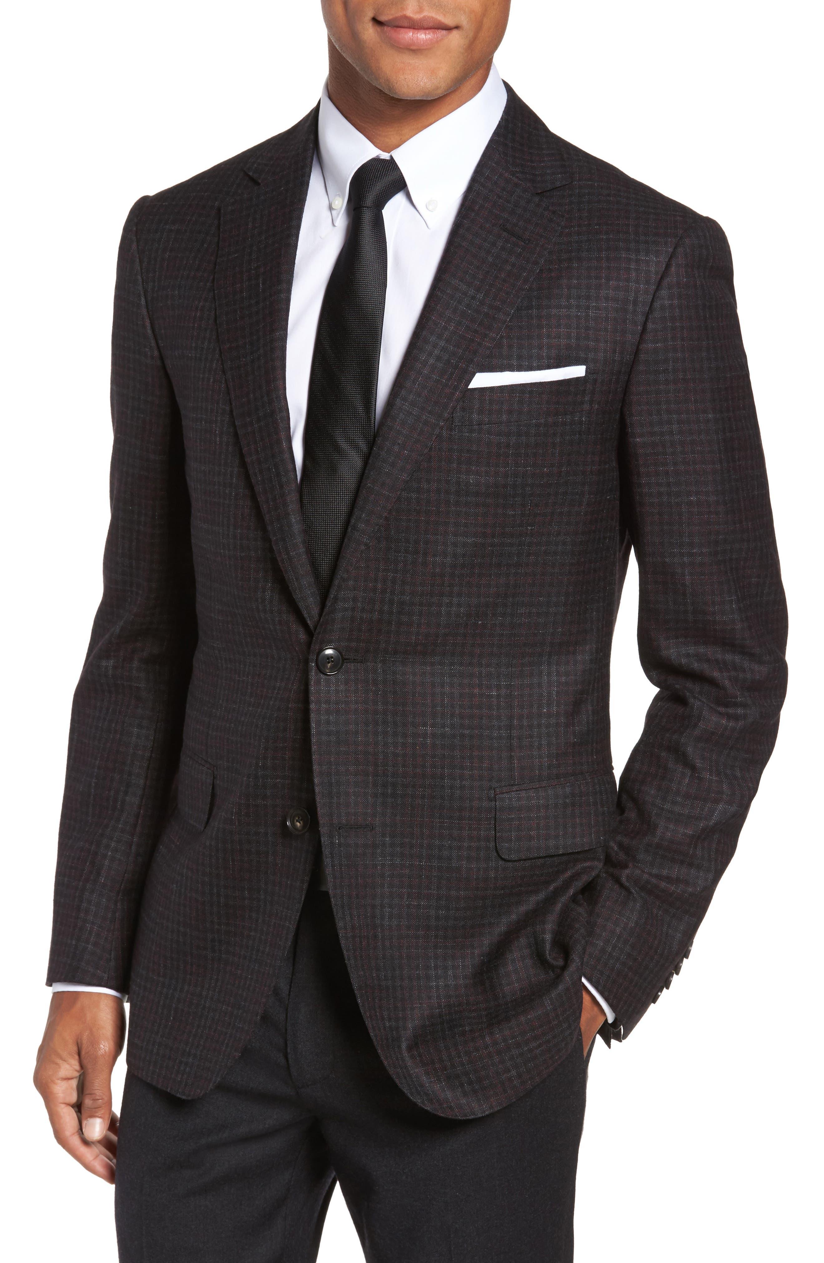Pal Zileri Classic Fit Check Wool Blend Sport Coat