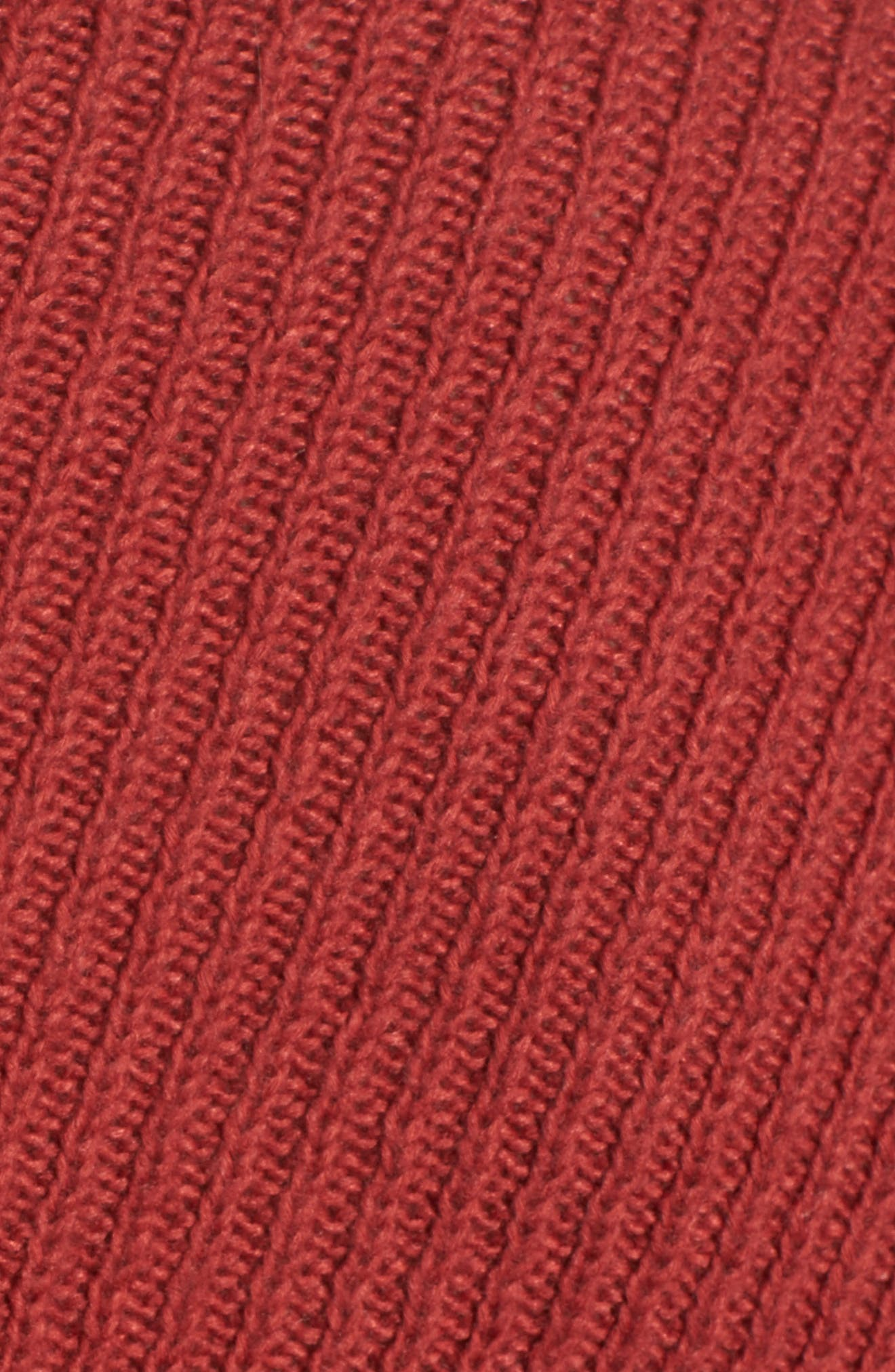 Randy Turtleneck Sweater,                             Alternate thumbnail 5, color,                             Brick