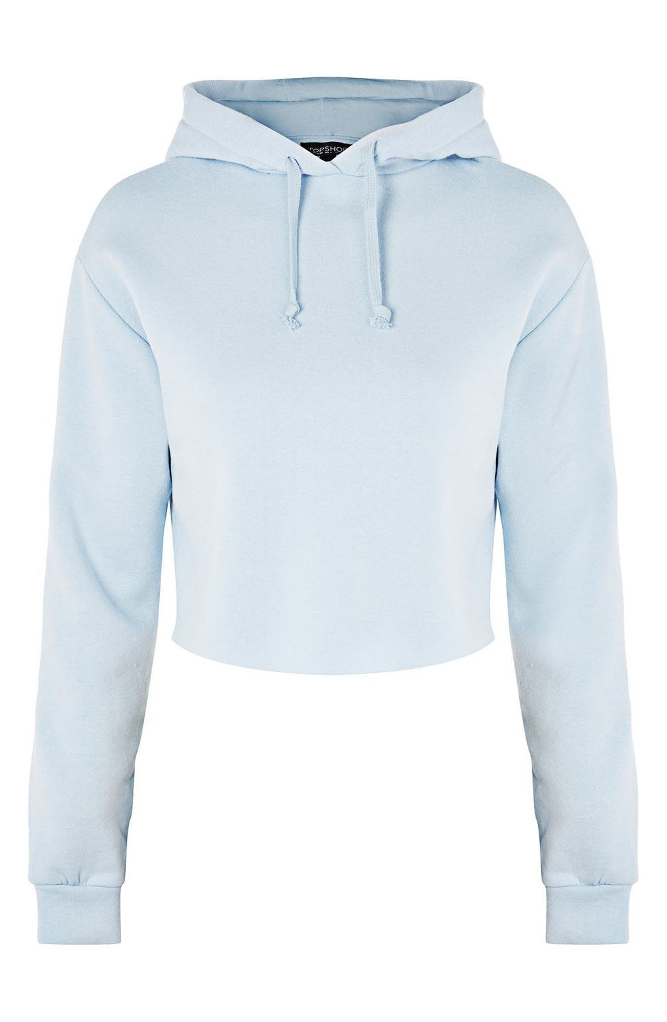 Alternate Image 4  - Topshop Crop Hoodie (Regular & Petite)
