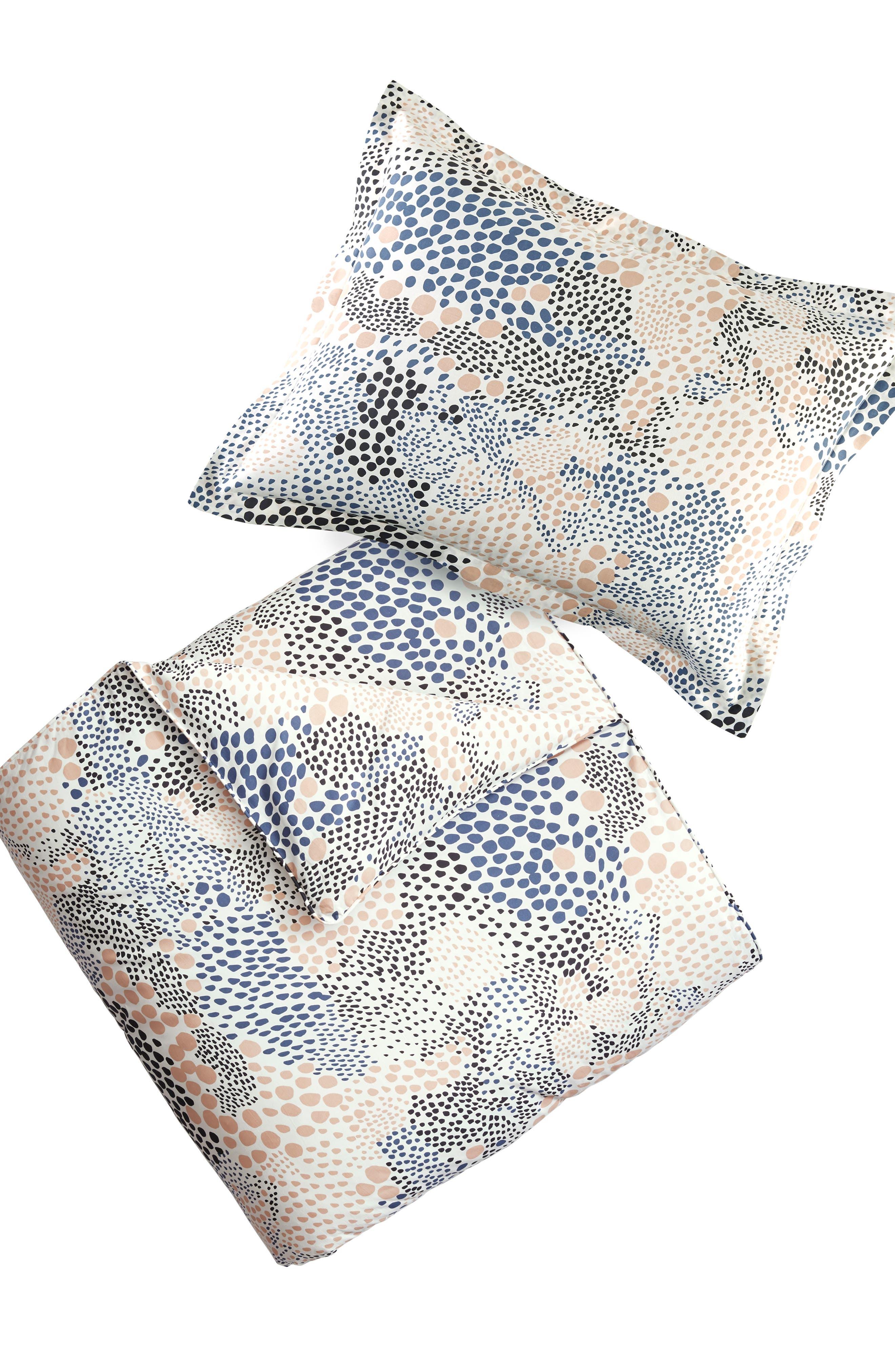Pebble Noir Comforter & Sham Set,                             Alternate thumbnail 2, color,                             White Multi