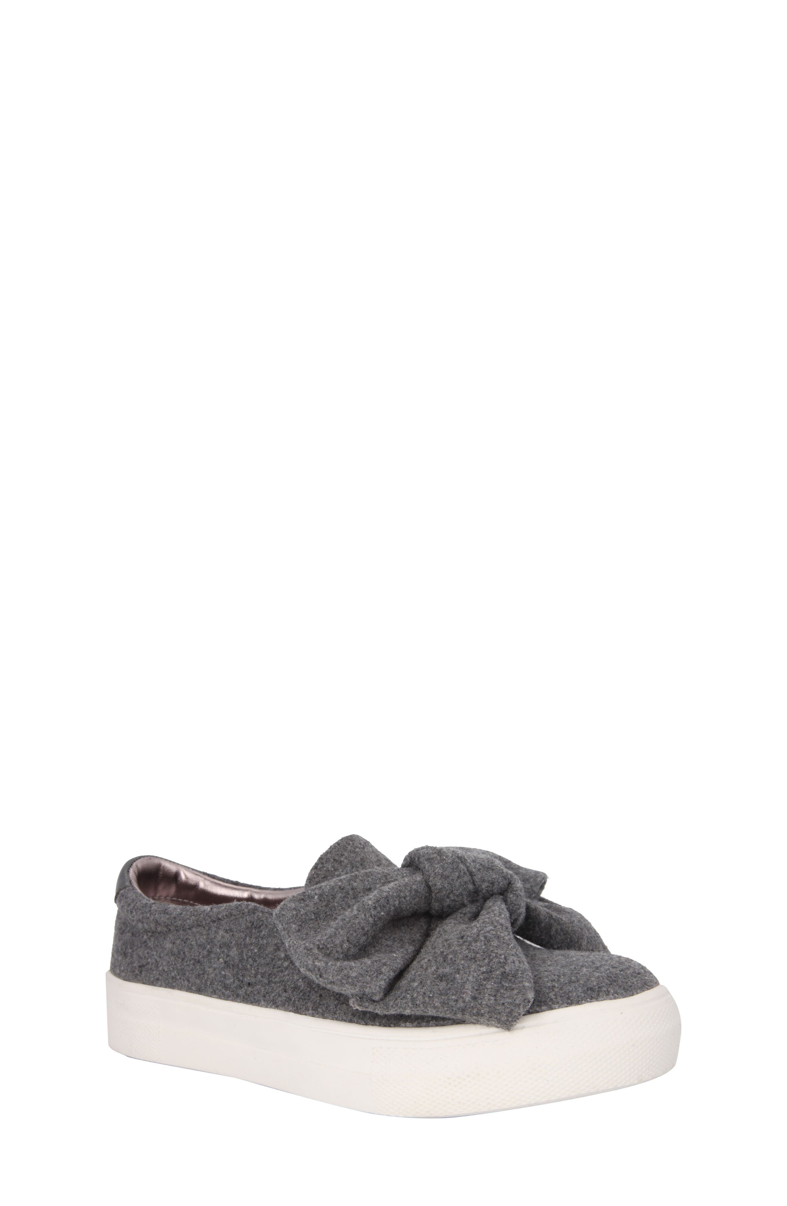 Vaneza Slip-On Bow Sneaker,                             Main thumbnail 1, color,                             Grey Flannel