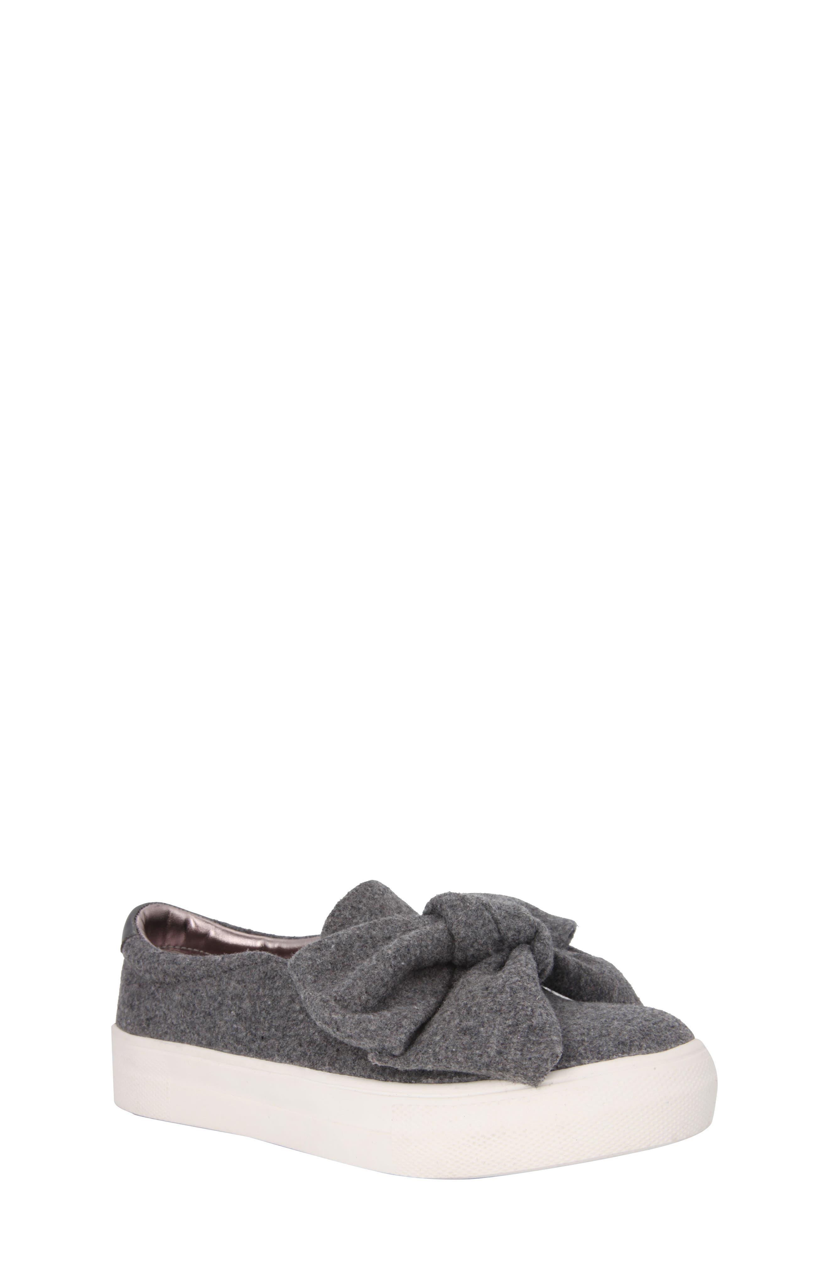Vaneza Slip-On Bow Sneaker,                         Main,                         color, Grey Flannel