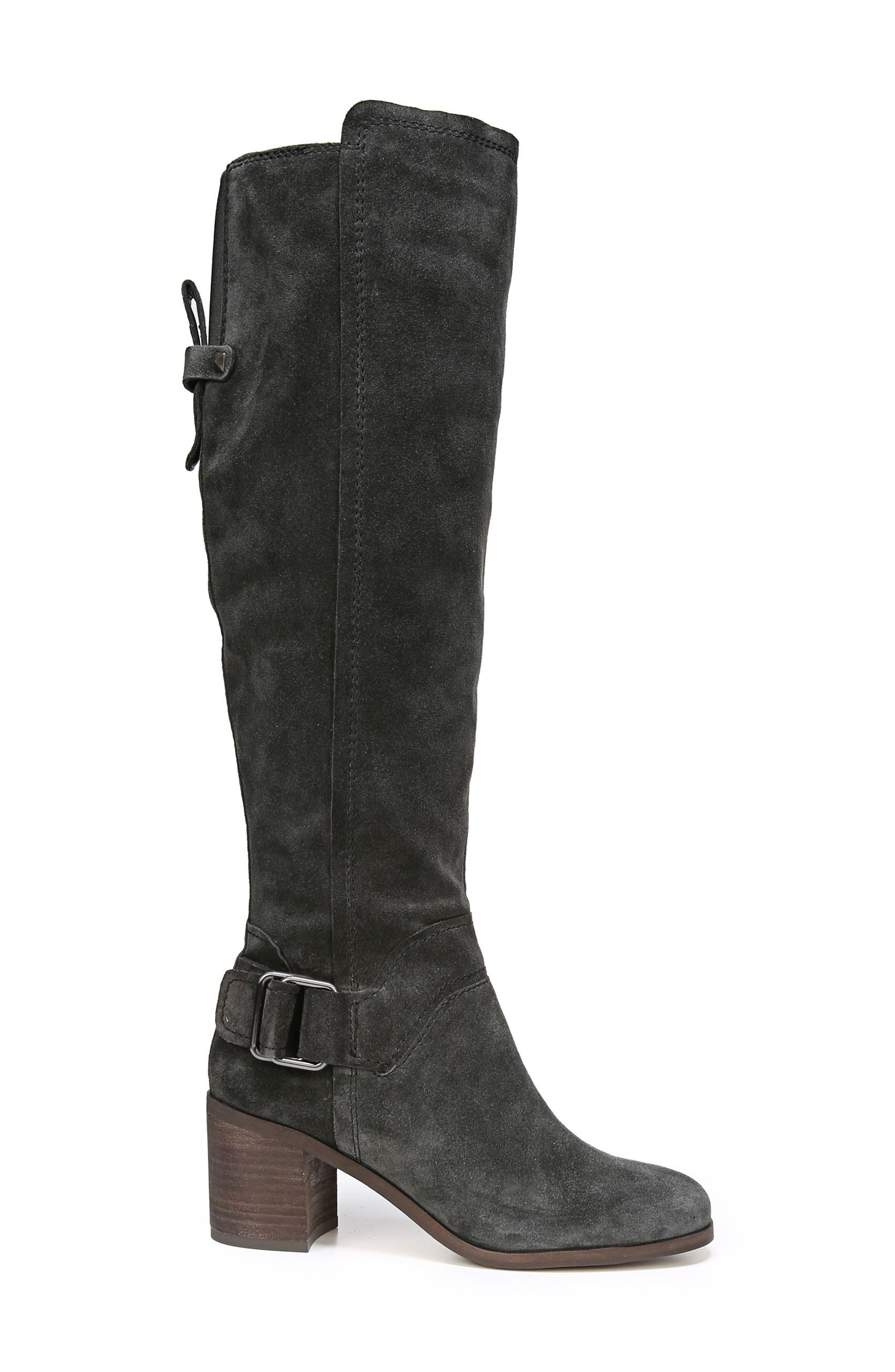 Mystic Knee High Boot,                             Alternate thumbnail 3, color,                             Coal Suede