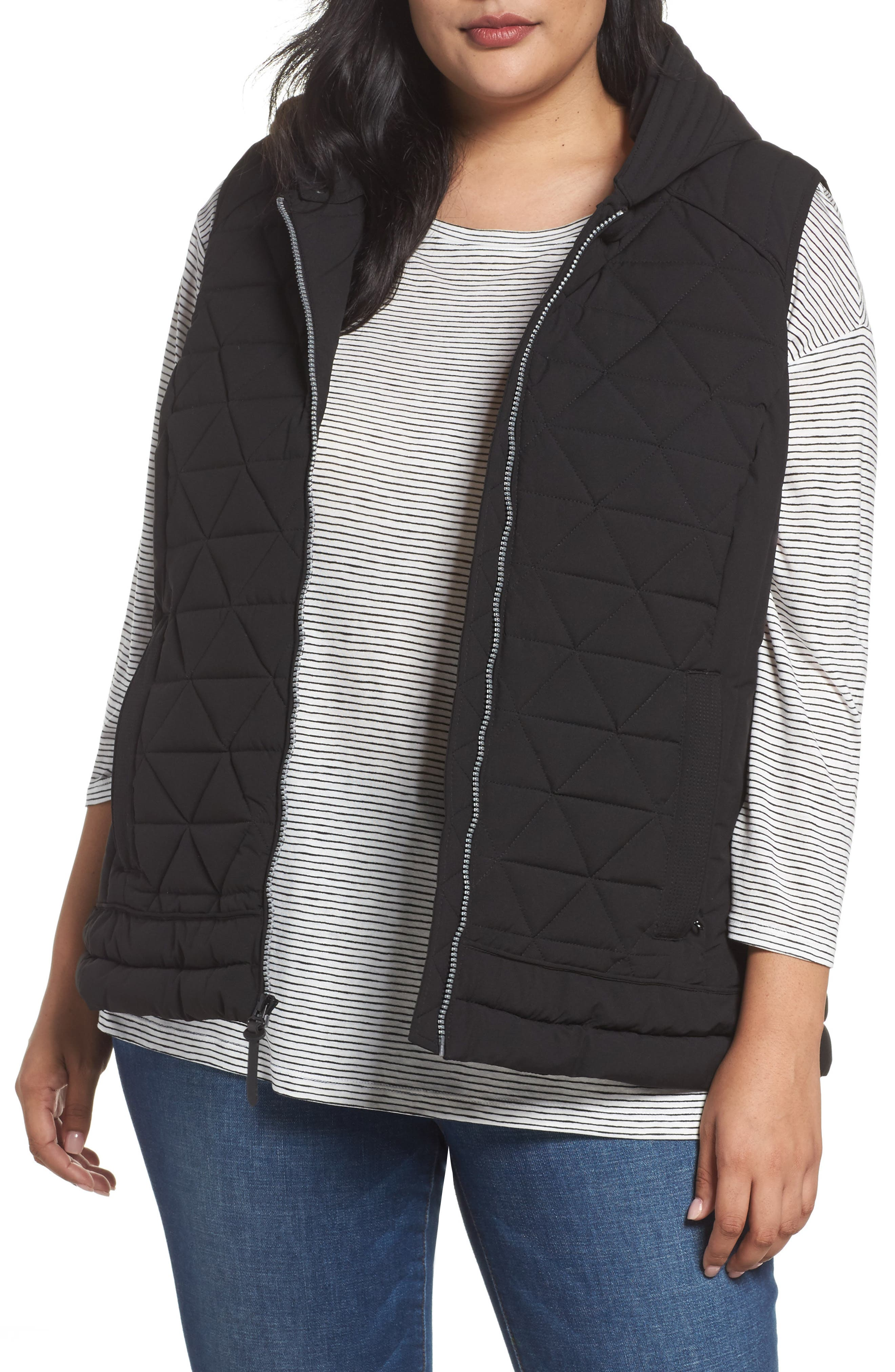 Sage Quilted Vest,                         Main,                         color, Black